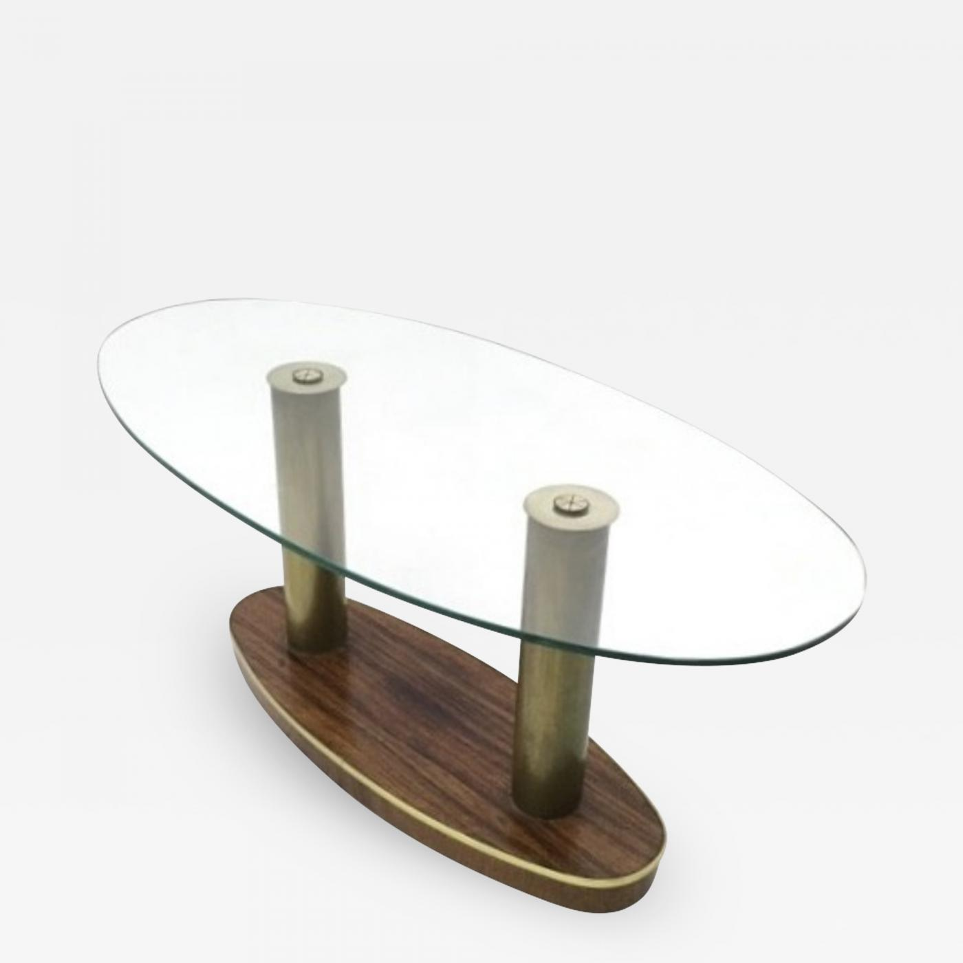 Cristal Arte Wood and Glass Coffee Table by Cristal Art Italy
