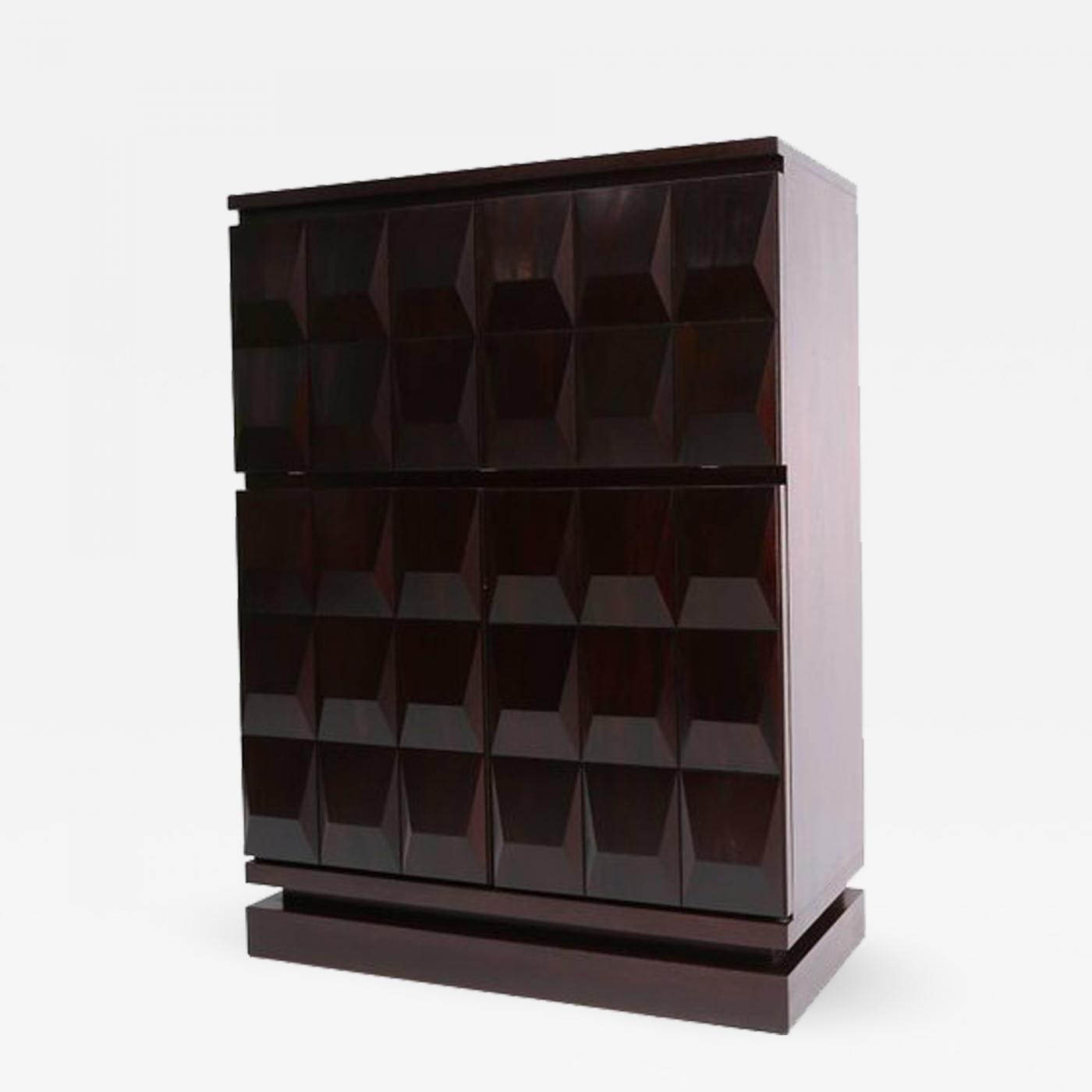 Listings / Furniture / Case Pieces U0026 Storage / Cabinets · De Coene  Brutalist Diamond Bar ...