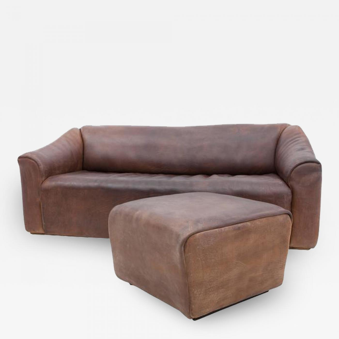 de Sede - De Sede DS 47 Leather Sofa with Ottoman