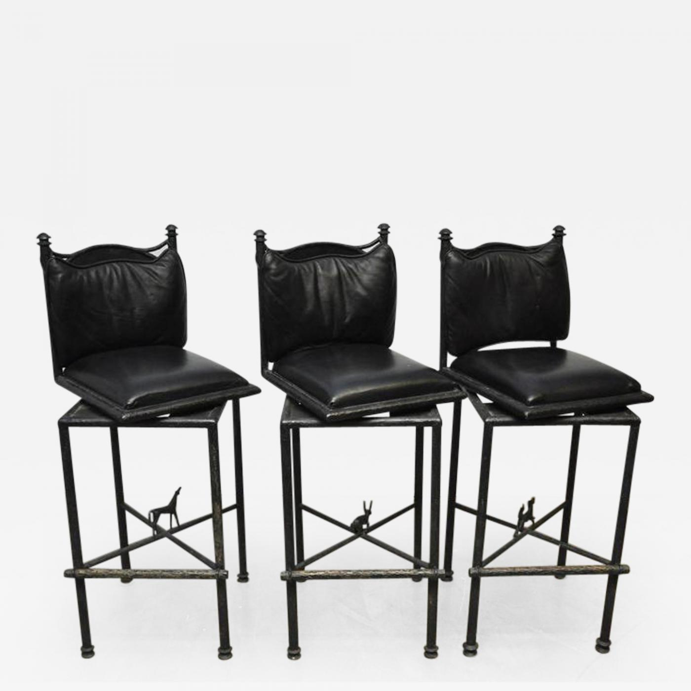 Superb Diego Giacometti Diego Giacometti Attributed Set Of Three Bronze Stools With Horse Wolf Rabbit Alphanode Cool Chair Designs And Ideas Alphanodeonline