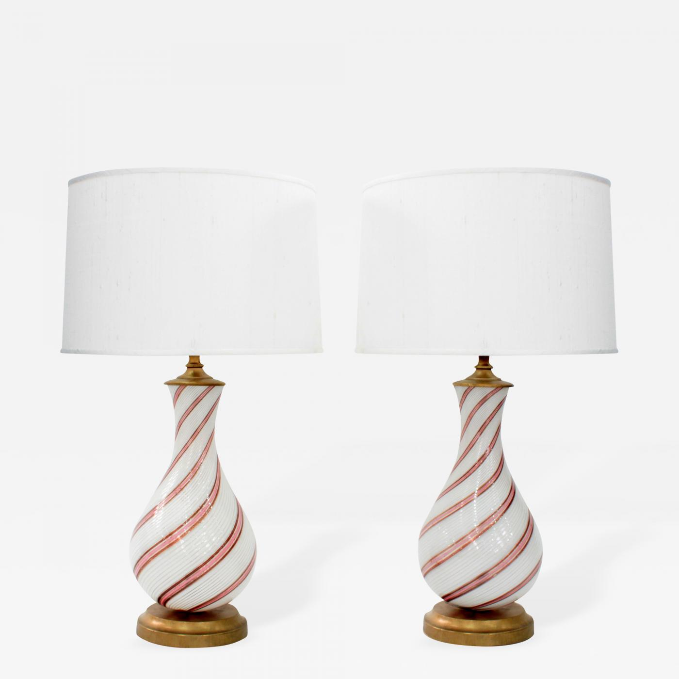 Dino martens pair of hand blown glass table lamps by dino martens listings furniture lighting table lamps dino martens pair of hand blown glass mozeypictures Images
