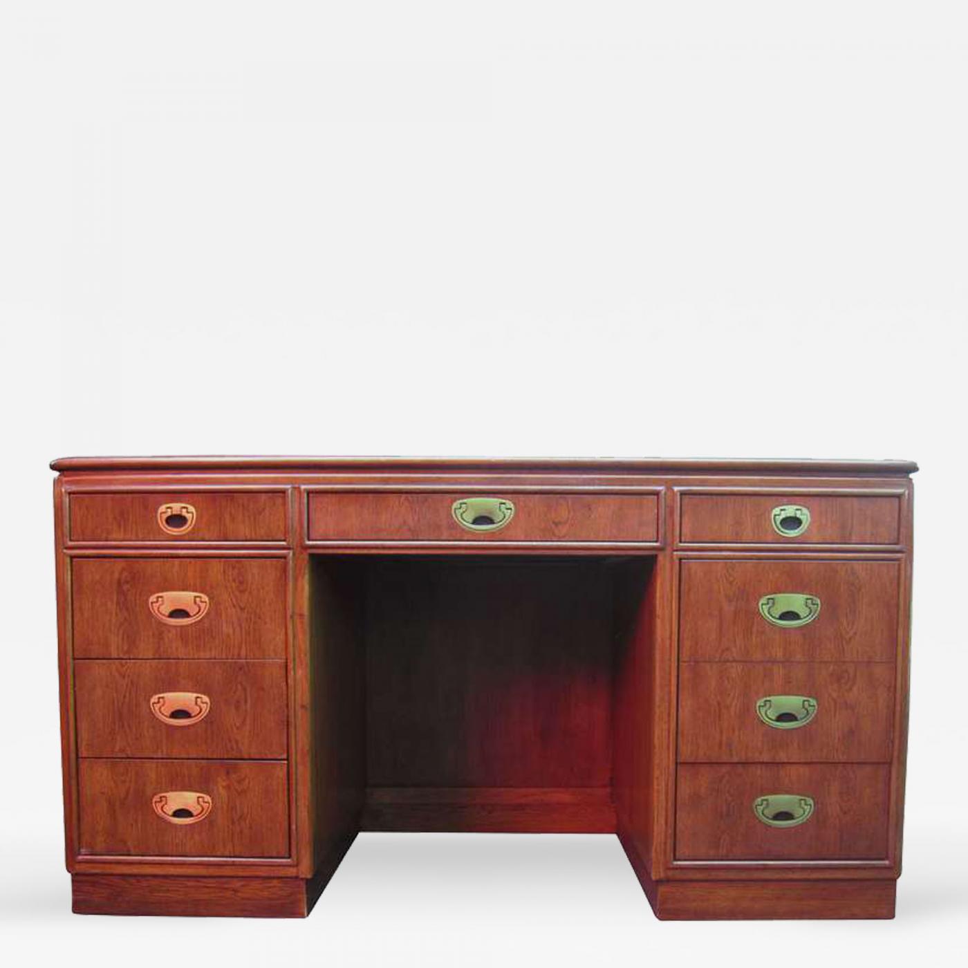 Listings / Furniture / Tables / Desks U0026 Writing Tables · Drexel Handsome  Pedestal Campaign ...