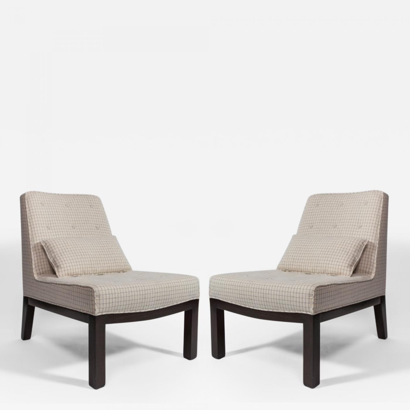 Slipper Chair Dunbar Pair Of Dunbar Slipper Chairs