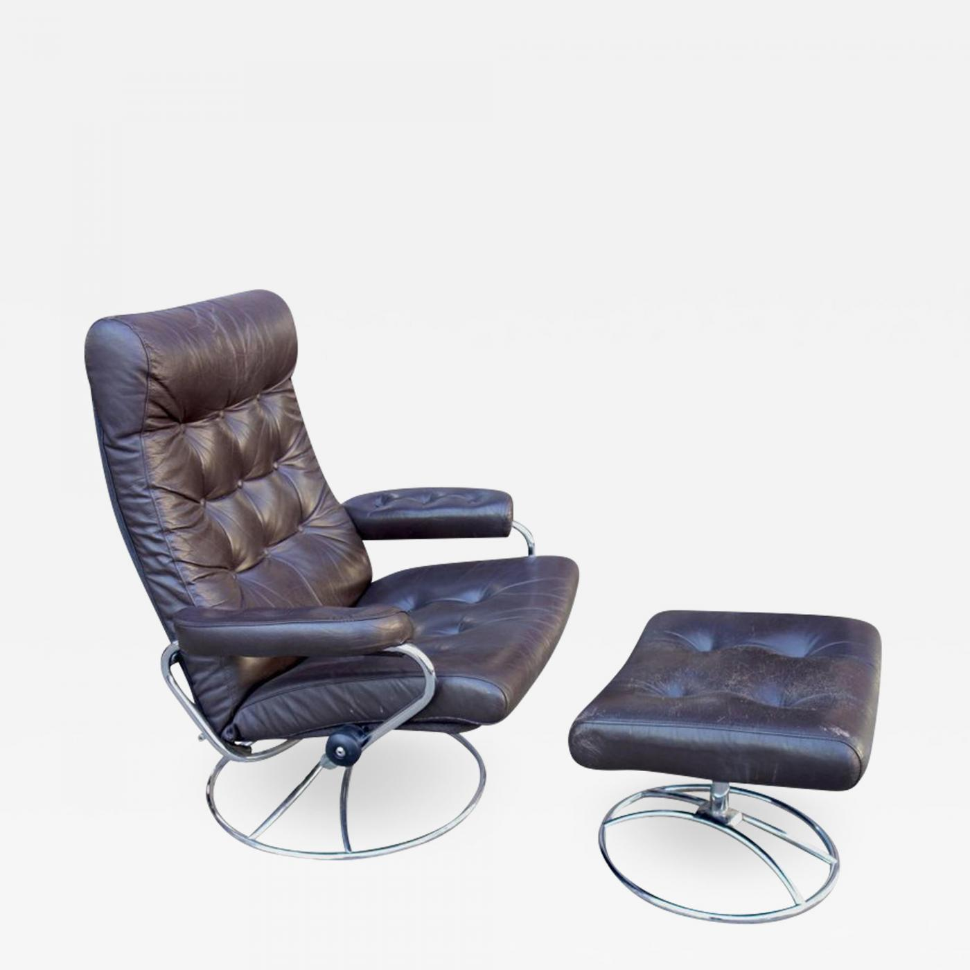 mid century recliner. Ekornes Stressless Midcentury Reclining Lounge Chair And Ottoman By Ekornes. Tap To Expand Mid Century Recliner