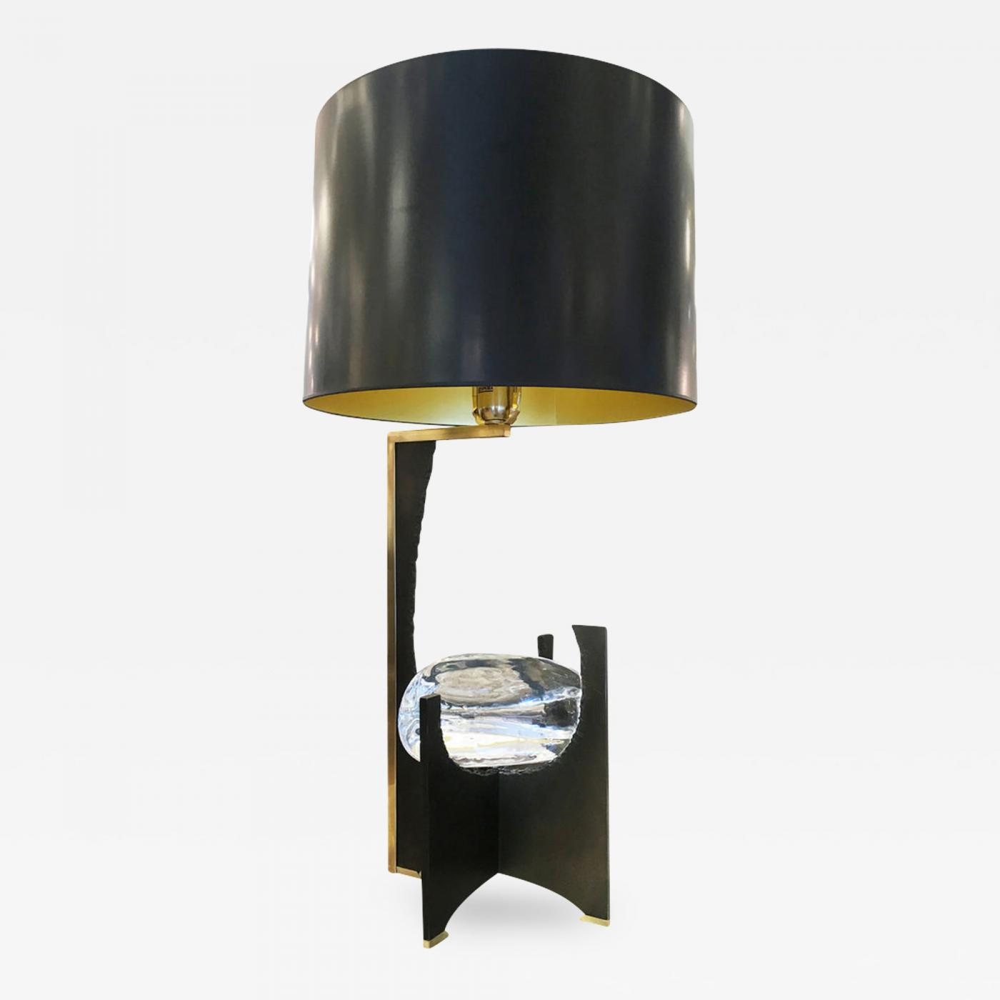 Picture of: Esperia Galileo Black Iron And Glass Table Lamp By Esperia
