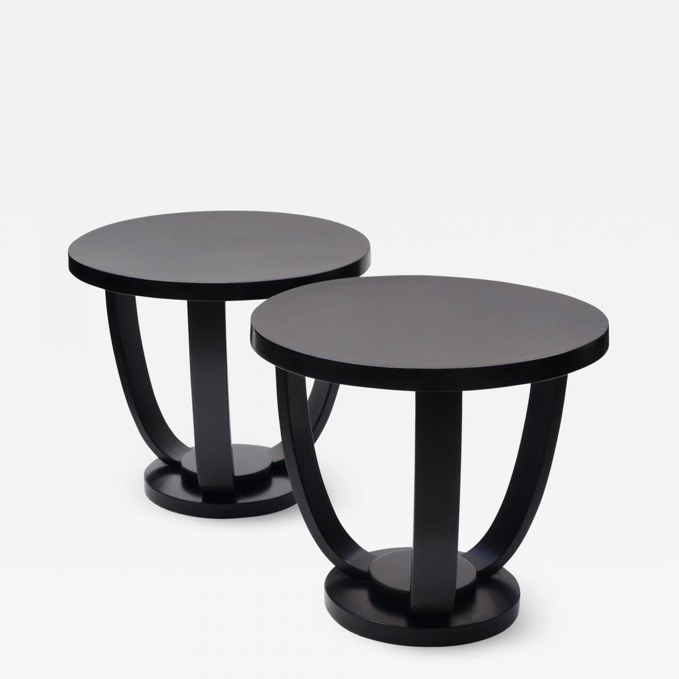 size 40 9a073 d2fc1 Fischel - A Pair of 1930s Circular Black Bent Wood Side Tables