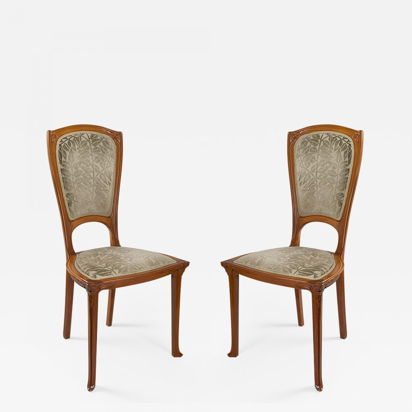 Gauthier Poinsignon French Art Nouveau Chairs By Gauthier