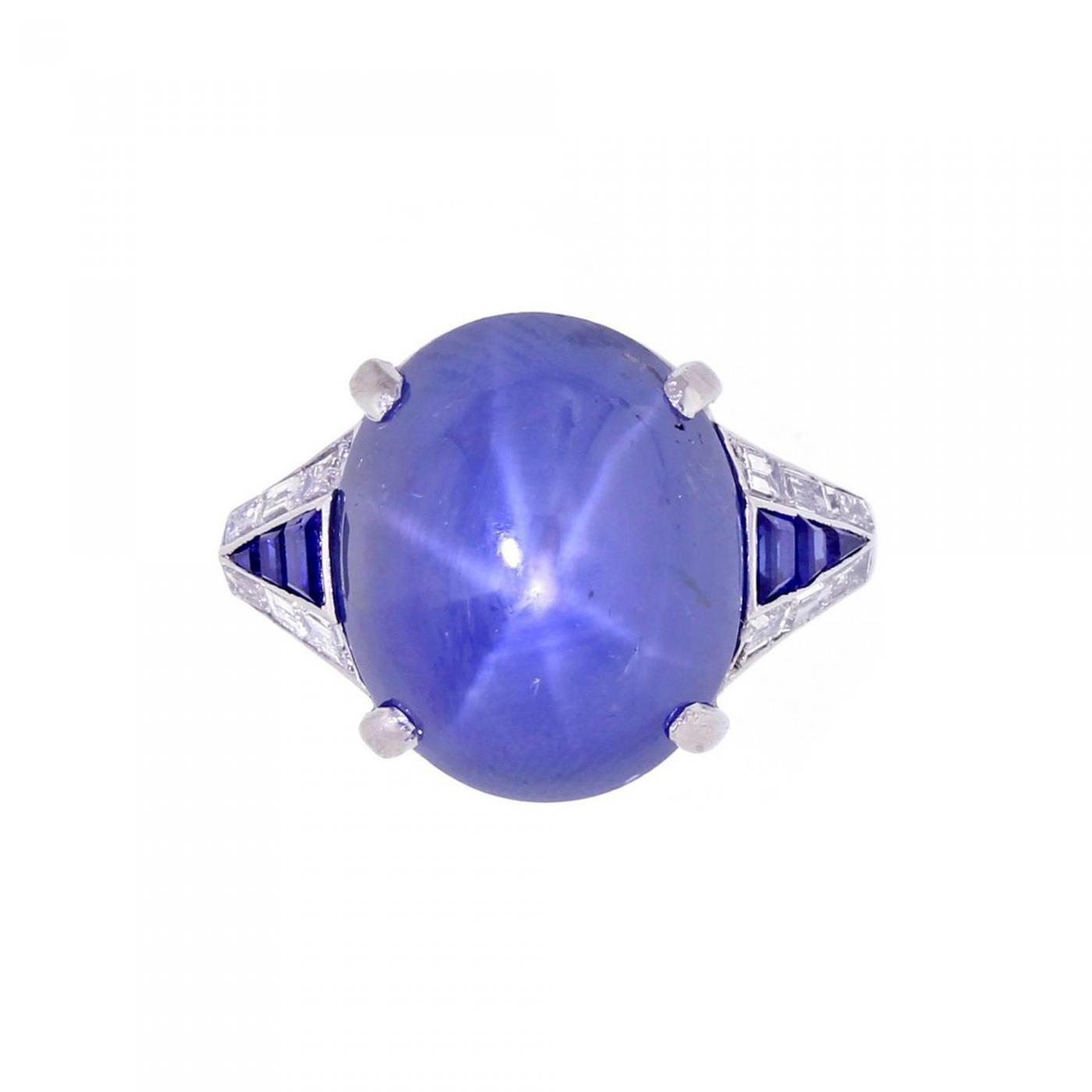 i star blue ring naples white gold sapphire
