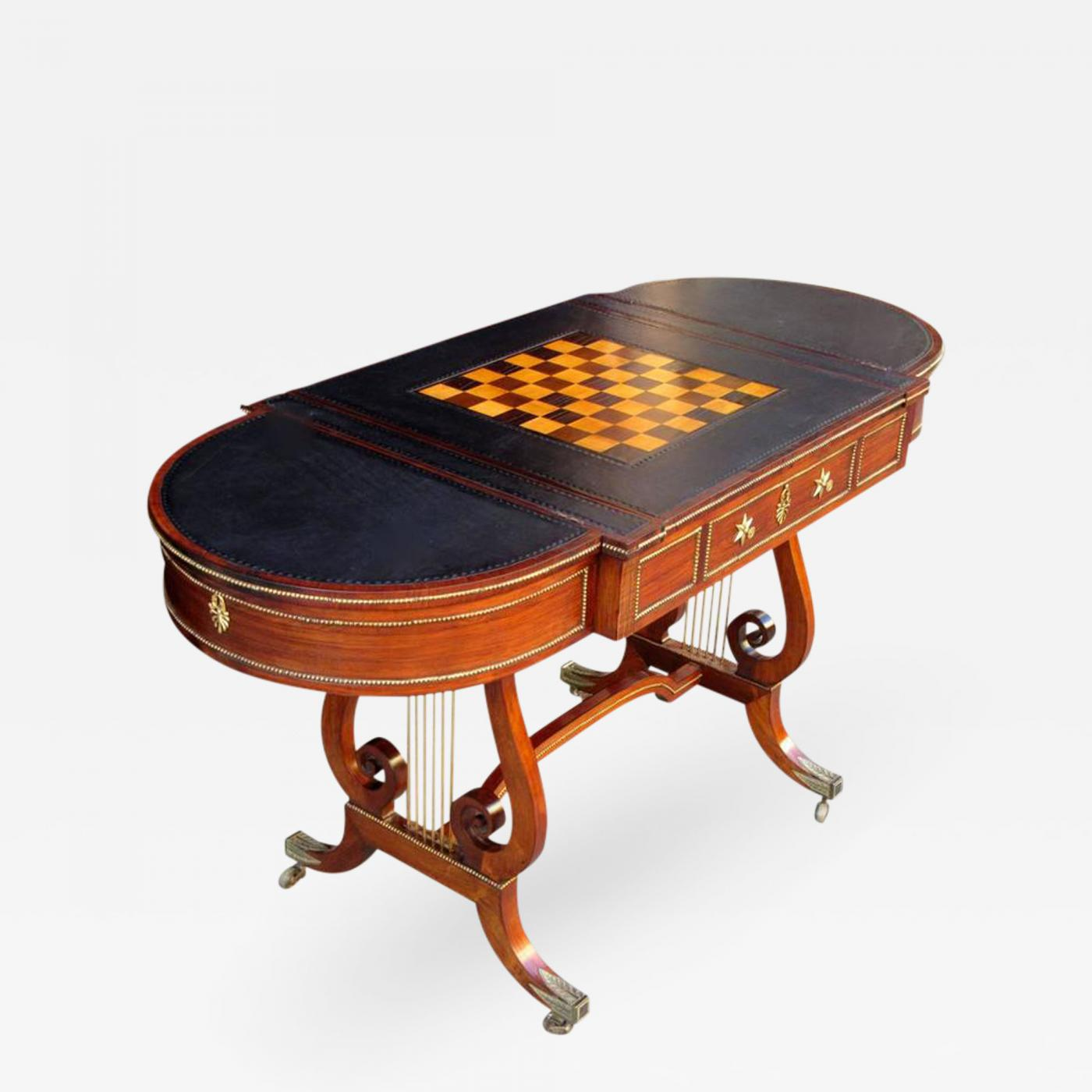 Gillows of lancaster london 19th c english regency mahogany listings furniture tables game tables geotapseo Gallery