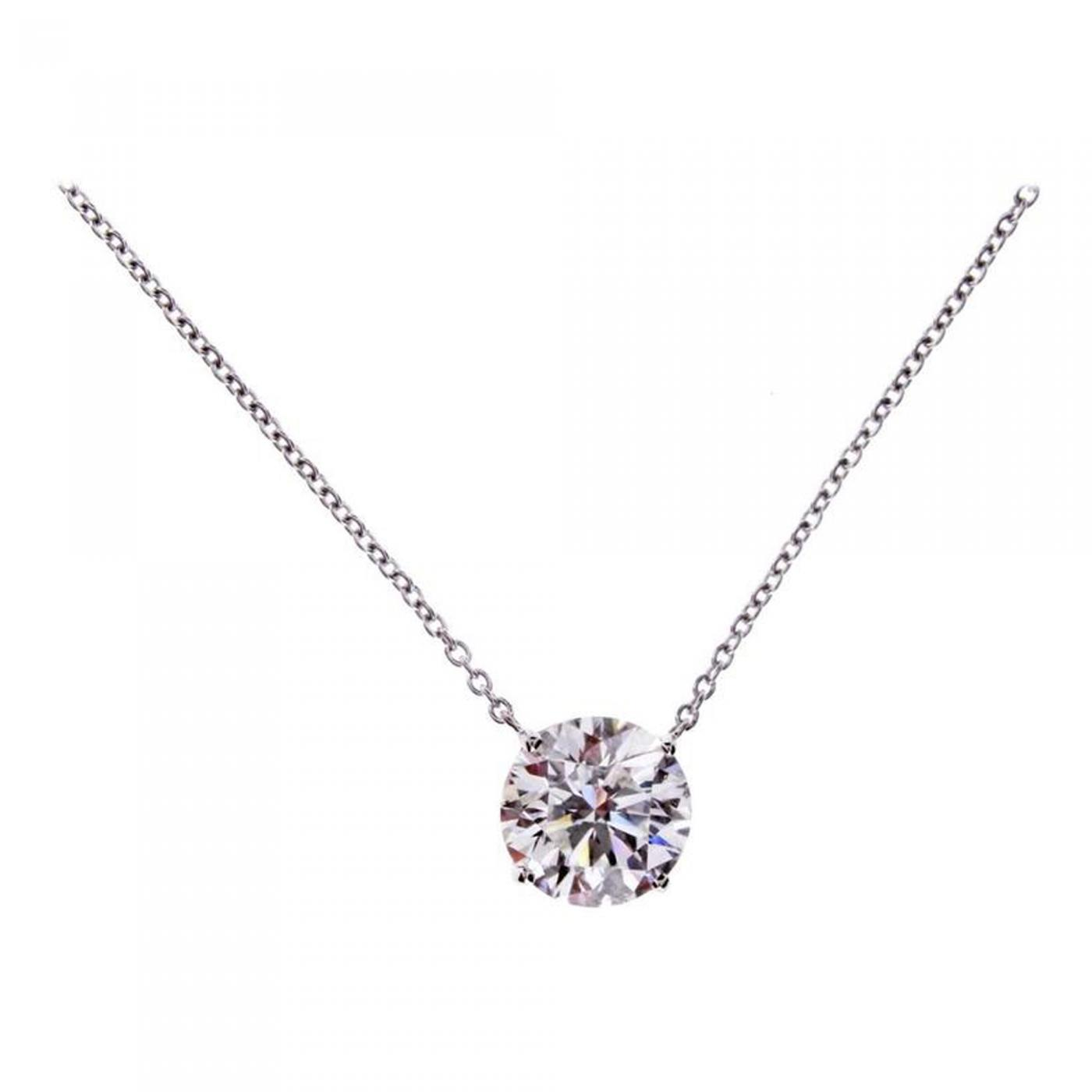 necklace a in solitaire pendant solitare white with carat diamond gold