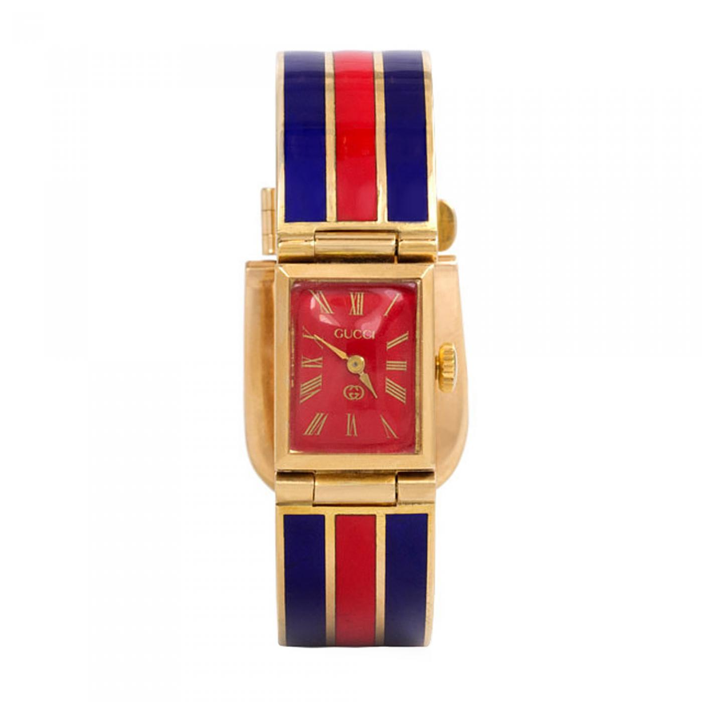 486e2967173 Gucci - 1960 s Gucci Gold and Enamel Bracelet Watch
