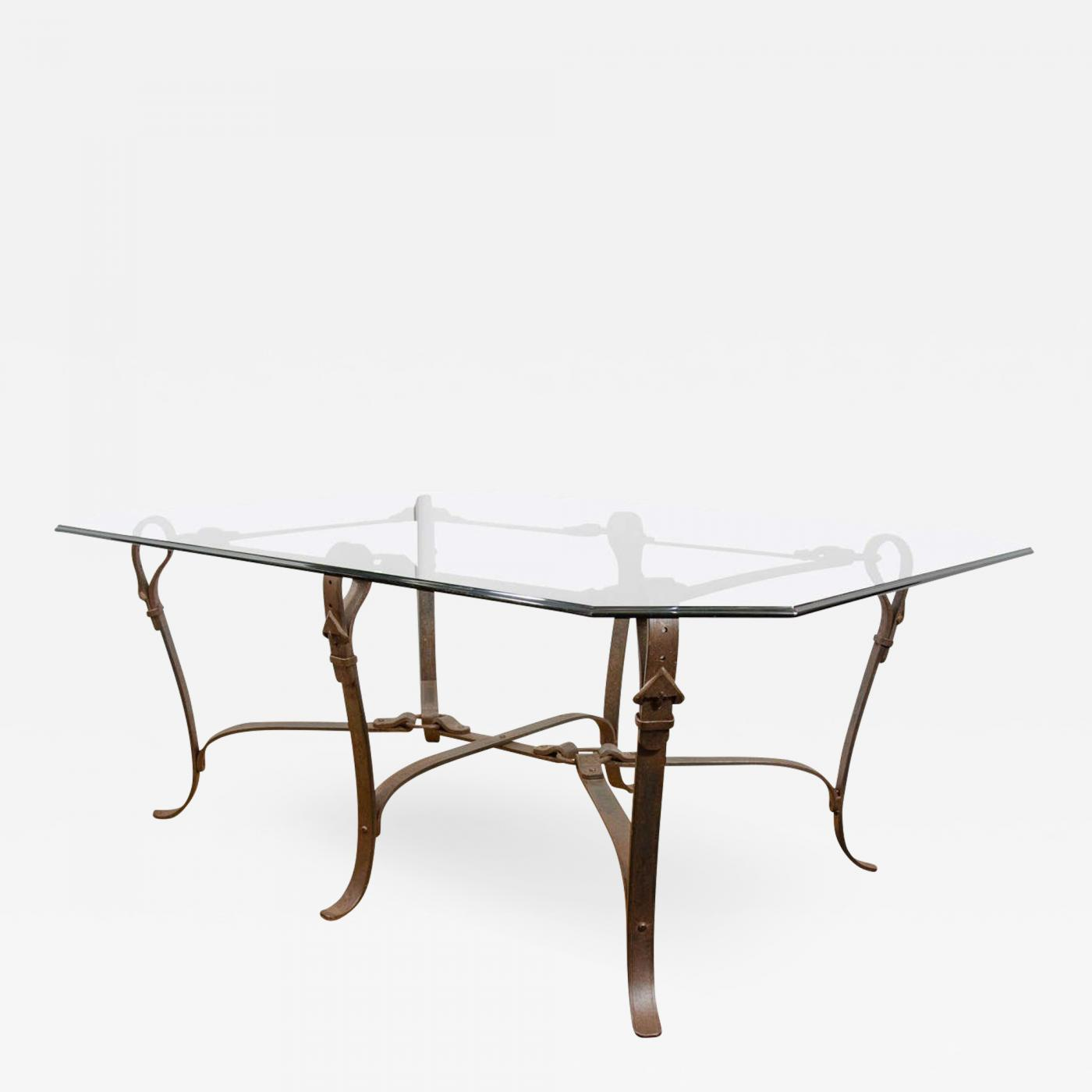 Gucci Stunning Modernist Gucci Influenced Equestrian HandForged - Gucci coffee table
