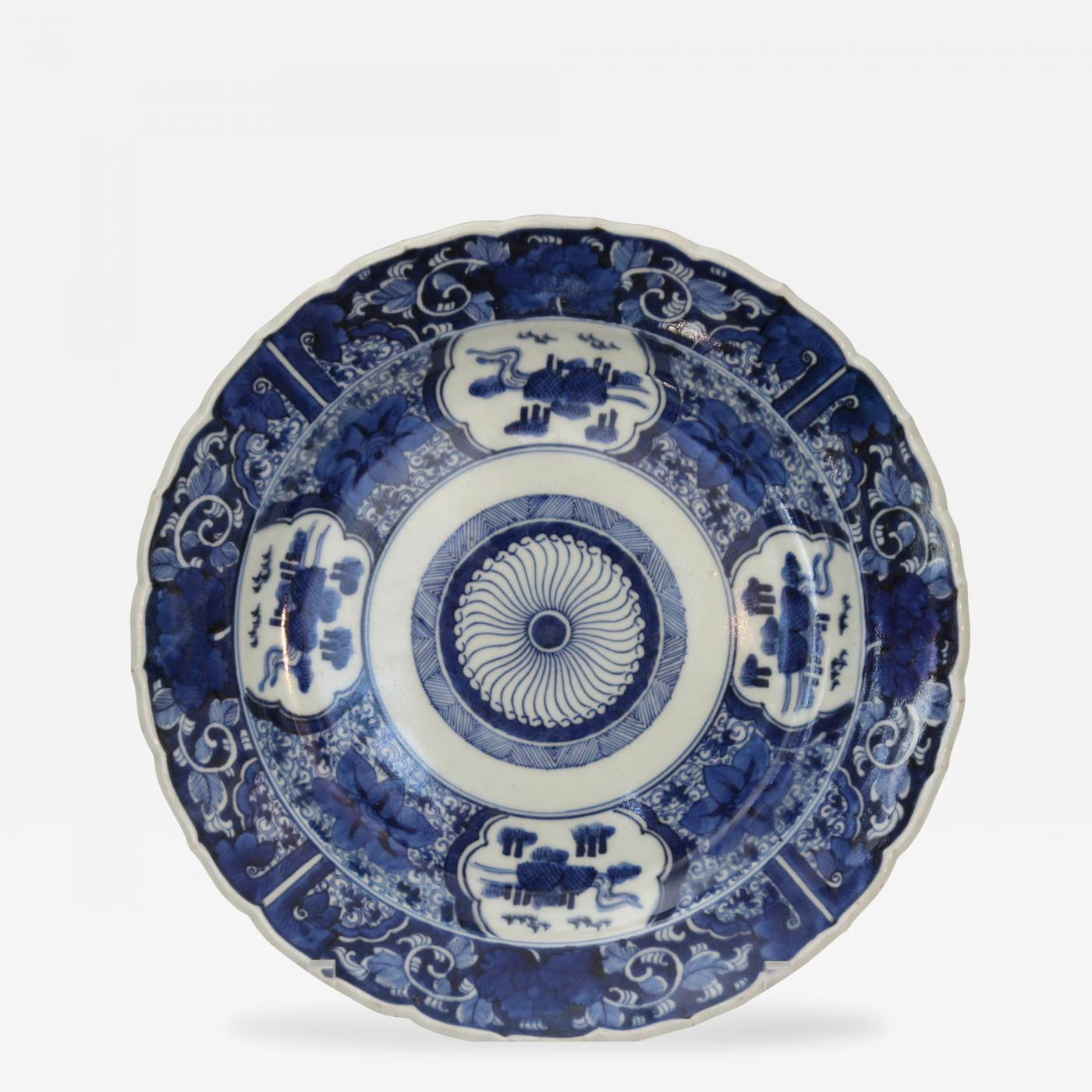 Listings / Decorative Arts / Tablewares / Plates u0026 Chargers · Imari Antique Japanese Imari Blue White Porcelain ...  sc 1 st  Incollect : blue and white porcelain dinnerware - pezcame.com