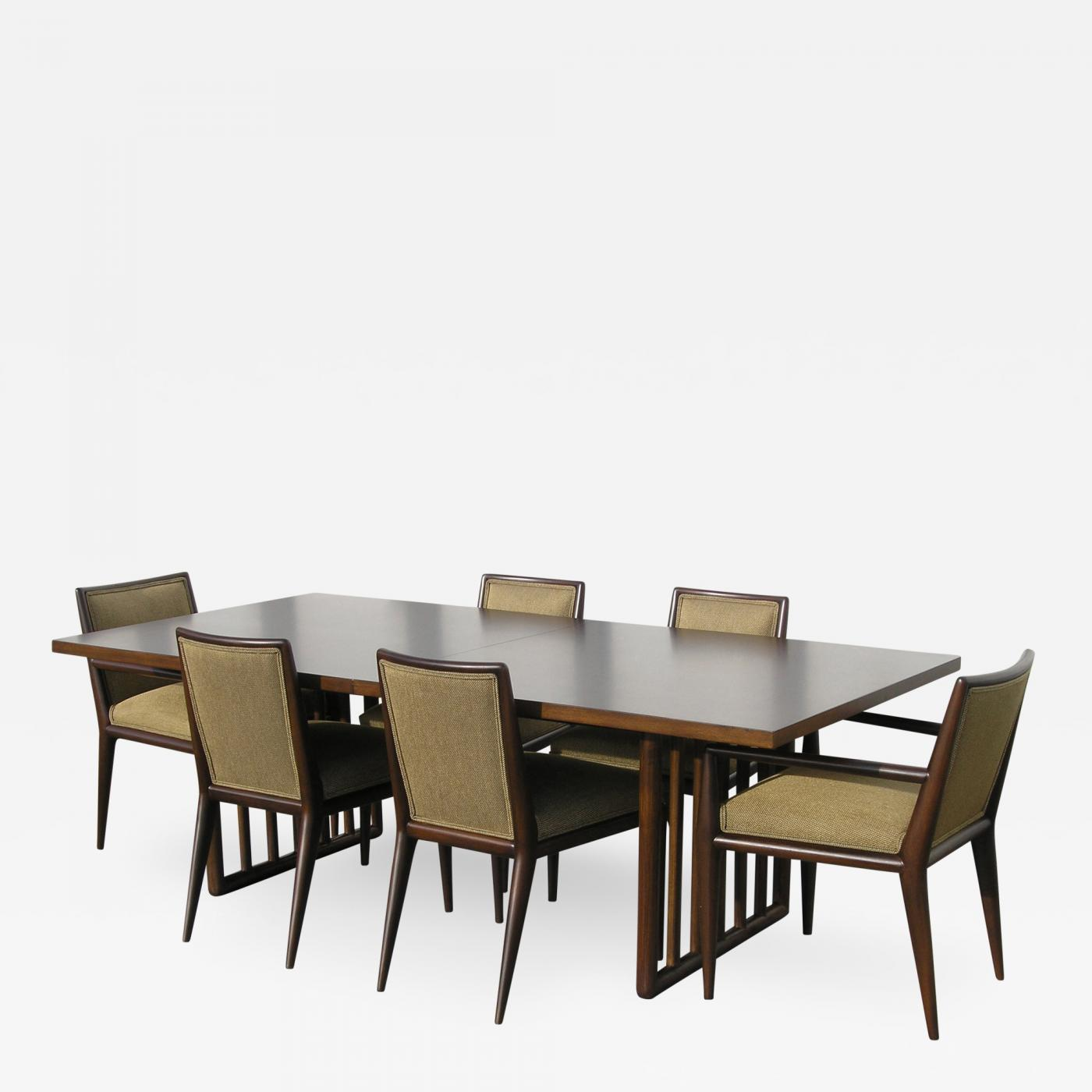 Dining Table With Six Chairs By T. H. Robsjohn Gibbings For Widdicomb