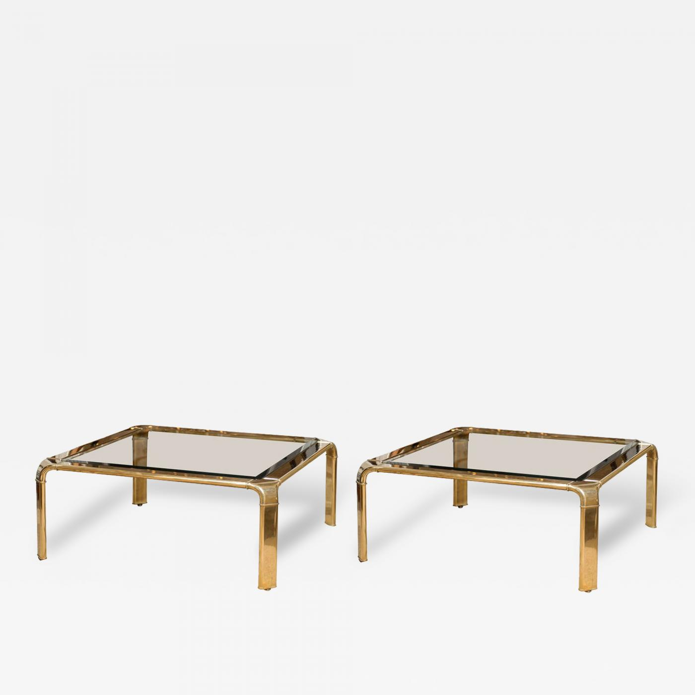 John Widdi b Stunning Widdi b Brass Coffee Table with