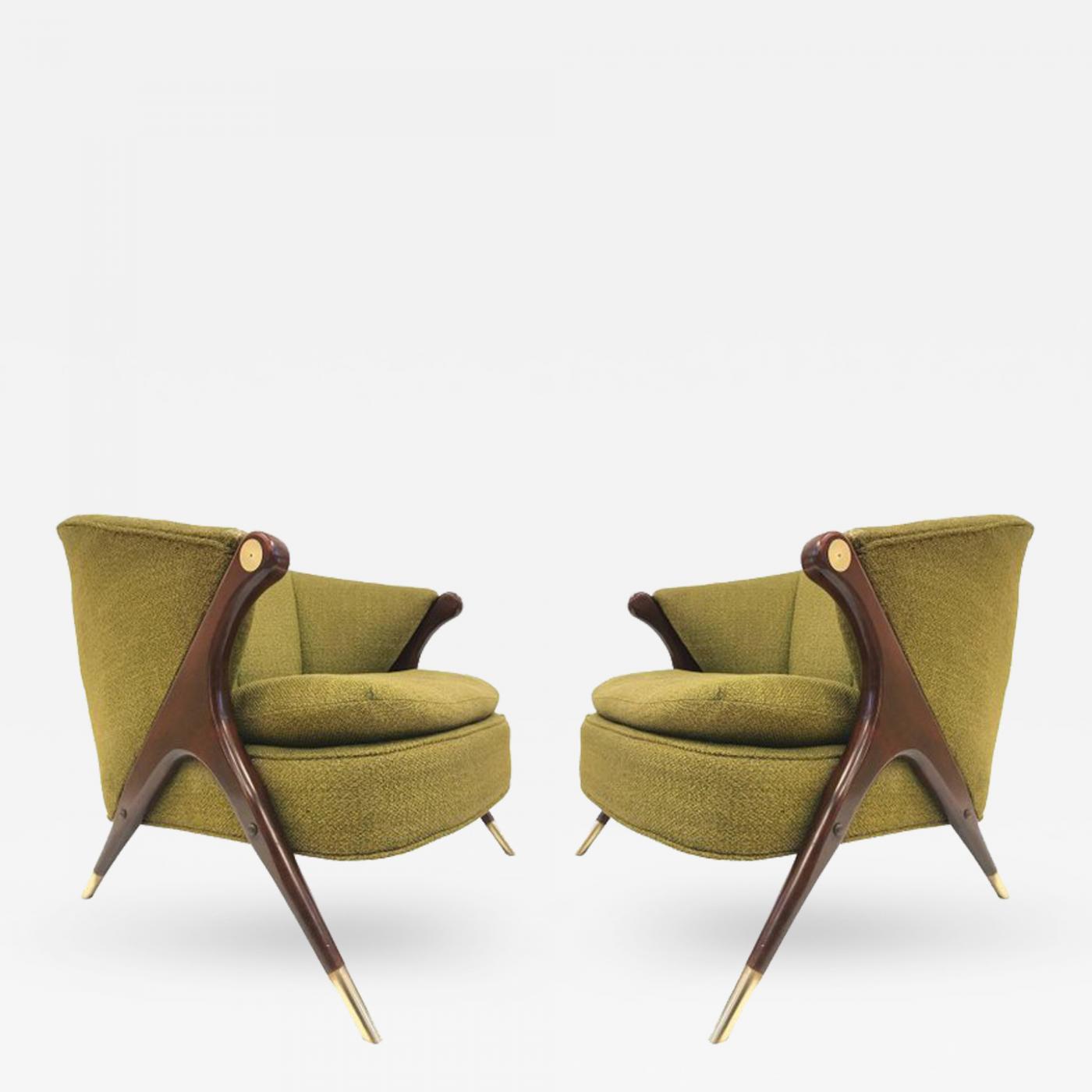 Awe Inspiring Karpen Of California Karpen Of California Mid Century Modern Lounge Chairs Pair Inzonedesignstudio Interior Chair Design Inzonedesignstudiocom