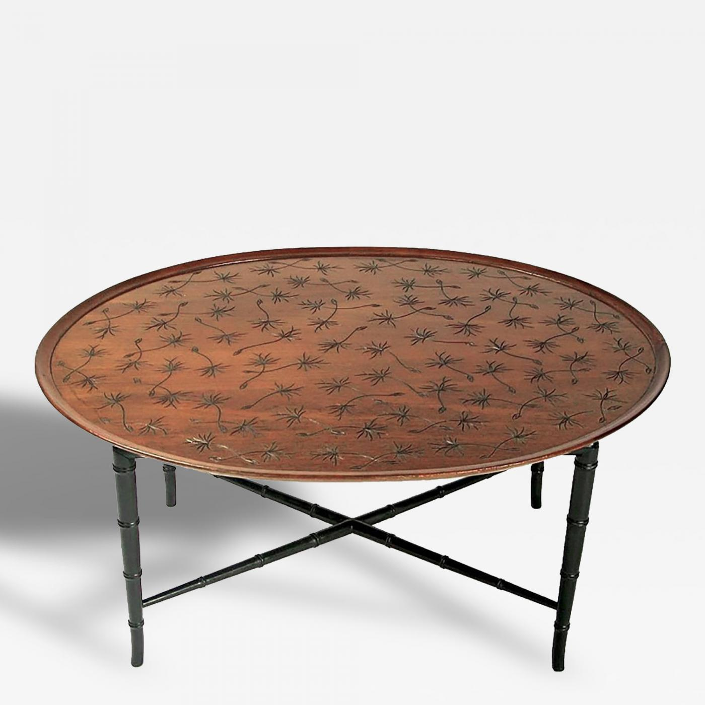 Kittinger Furniture Co Kittinger Tray Coffee Table With Incised