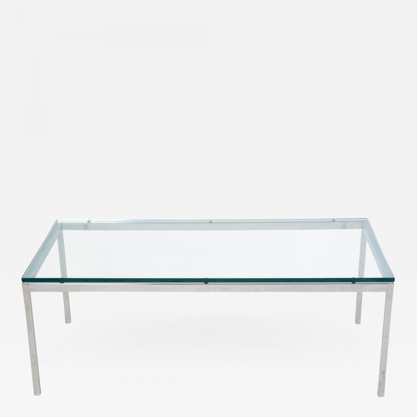 Knoll Contemporary Chrome Florence Knoll Coffee Table [ 1400 x 1400 Pixel ]