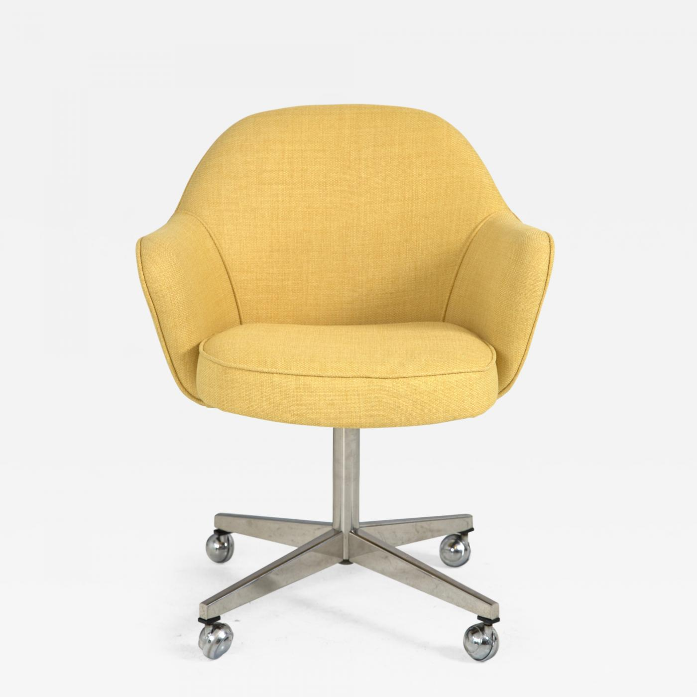 Knoll - Knoll Desk Chair in Yellow Microfiber