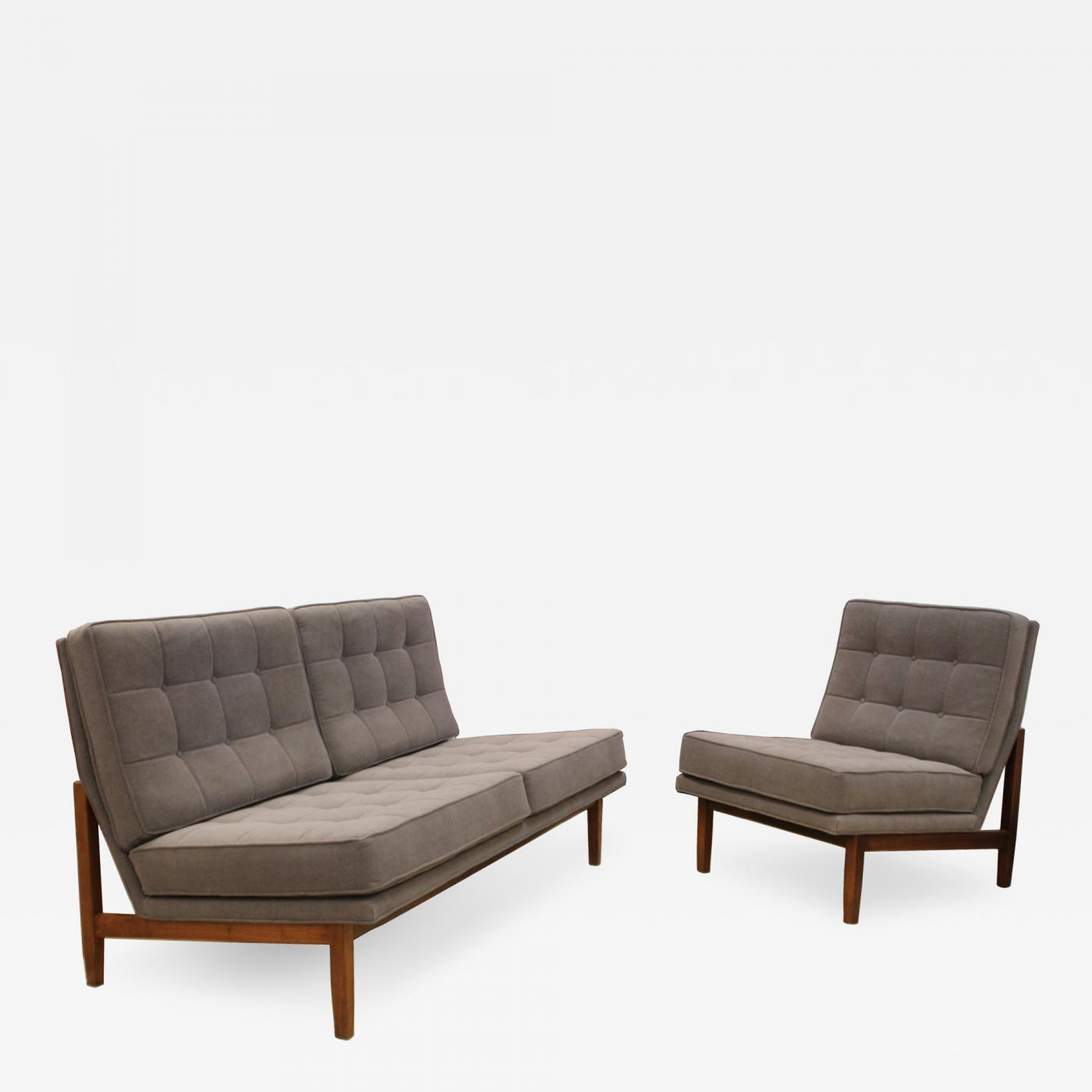 Listings   Furniture   Seating   Settees   Knoll Mid Century Modern. Knoll   Mid Century Modern Early Rare Knoll Settee and Chair Model