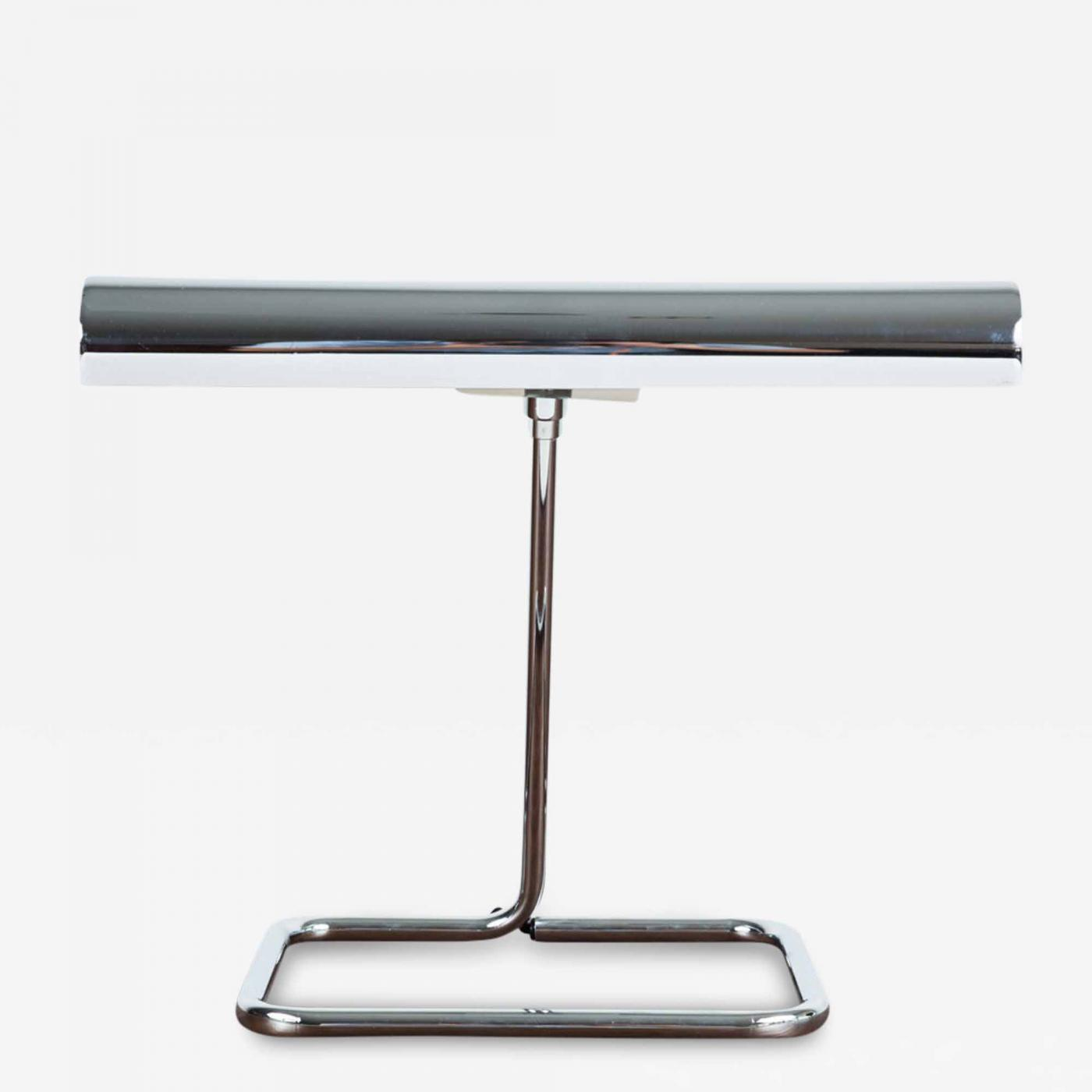 Koch & Lowy - Koch & Lowy Chrome Desk Lamps (Two Available)