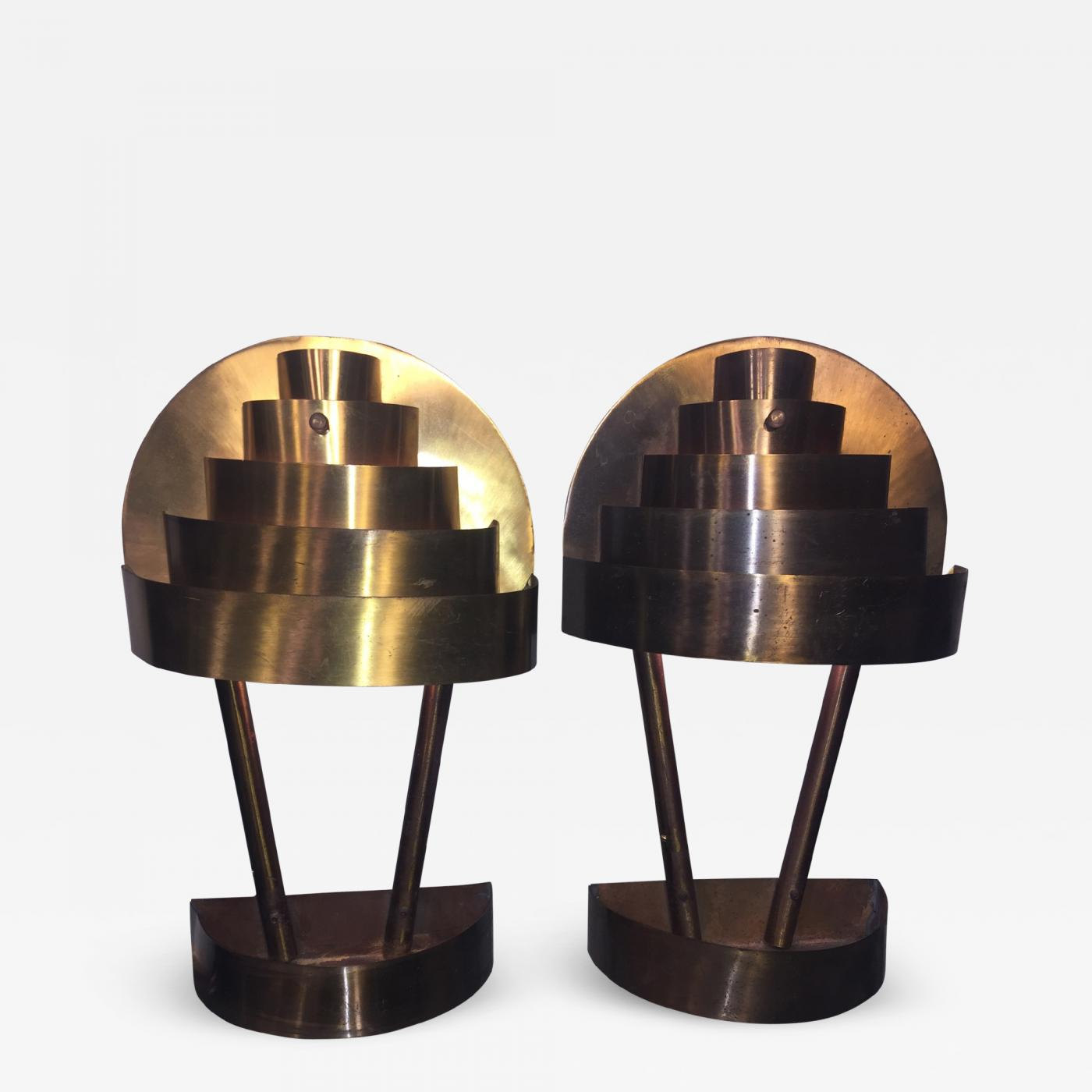 finest selection 8d235 2e053 Kurt Versen - KURT VERSEN MODERNIST ART DECO WALL SCONCES/TABLE LAMPS