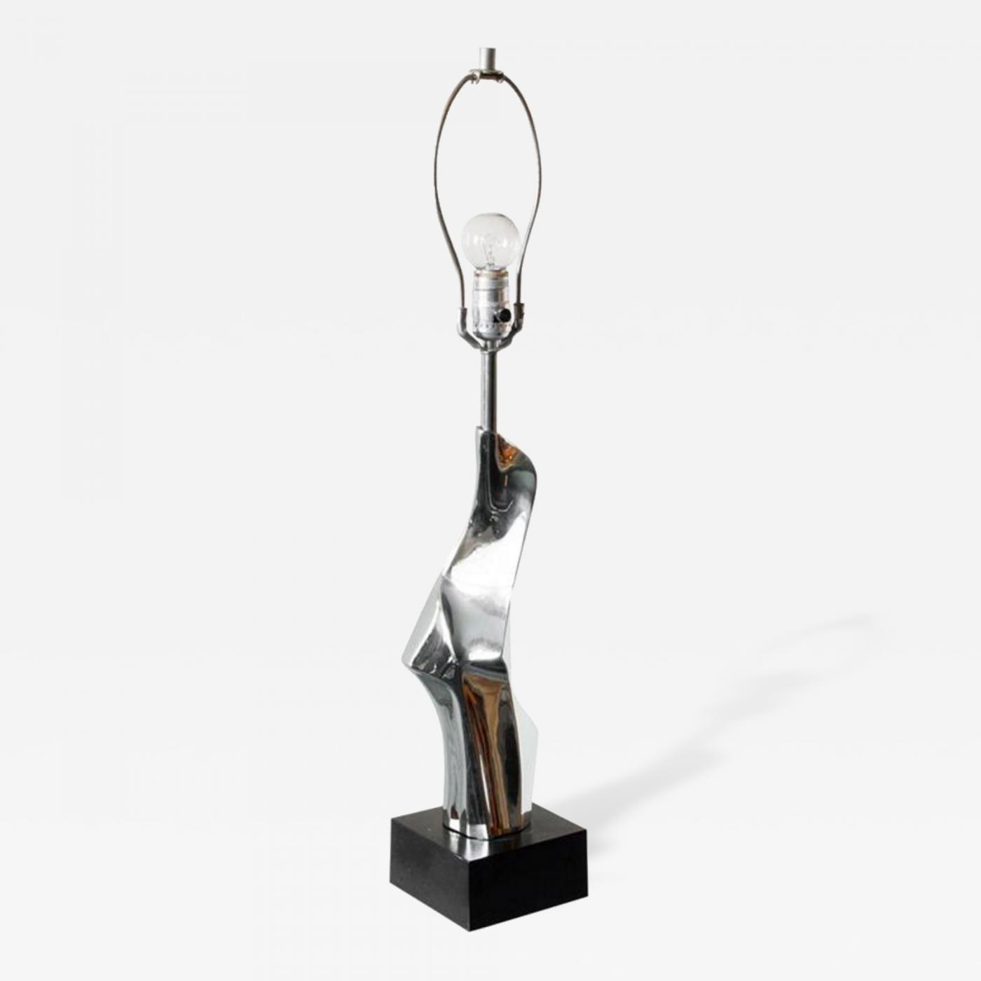 Laurel lamp company mirrored chrome amorphous table lamp by laurel listings furniture lighting table lamps geotapseo Images