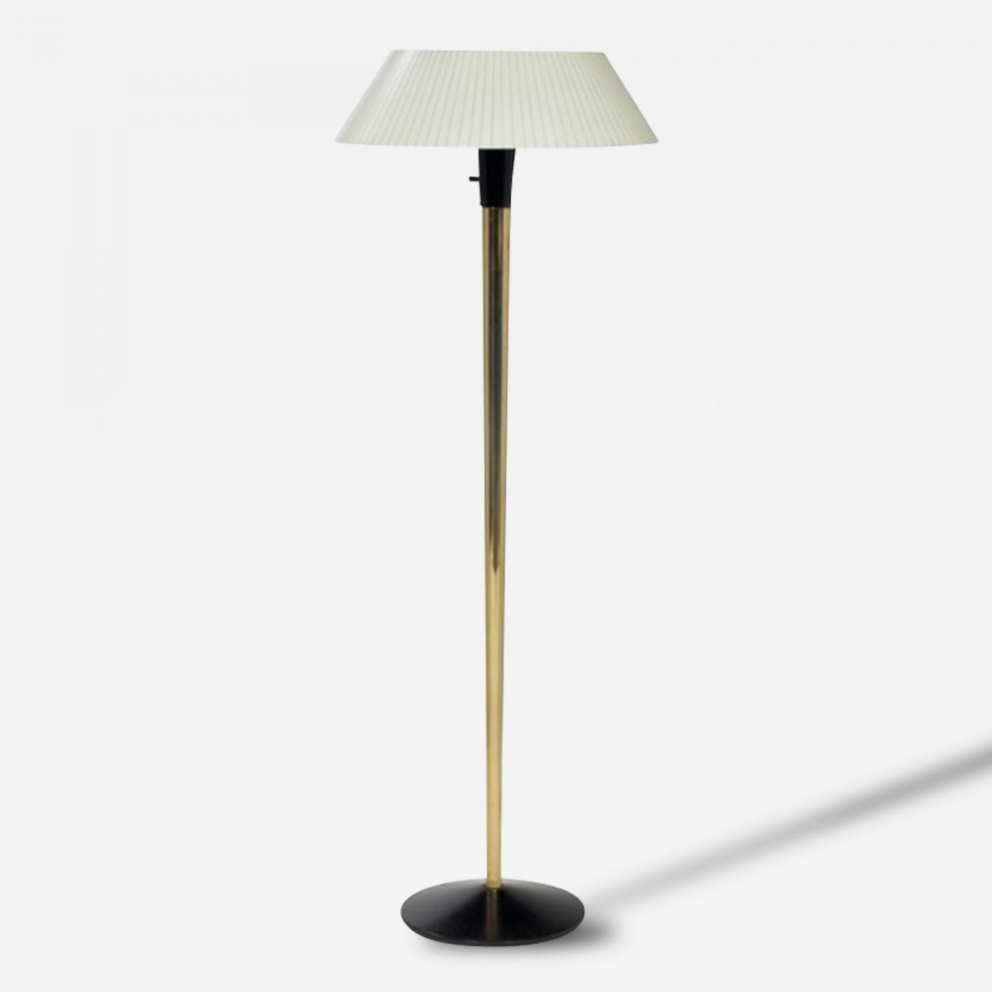 lightolier mid century brass floor lamp lightolier. Black Bedroom Furniture Sets. Home Design Ideas