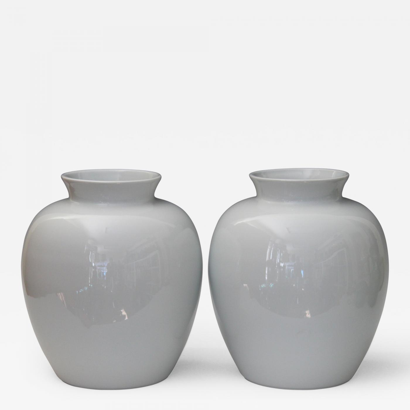 limoges large pair limoges french porcelain blanc de chine ginger jar vases garniture. Black Bedroom Furniture Sets. Home Design Ideas