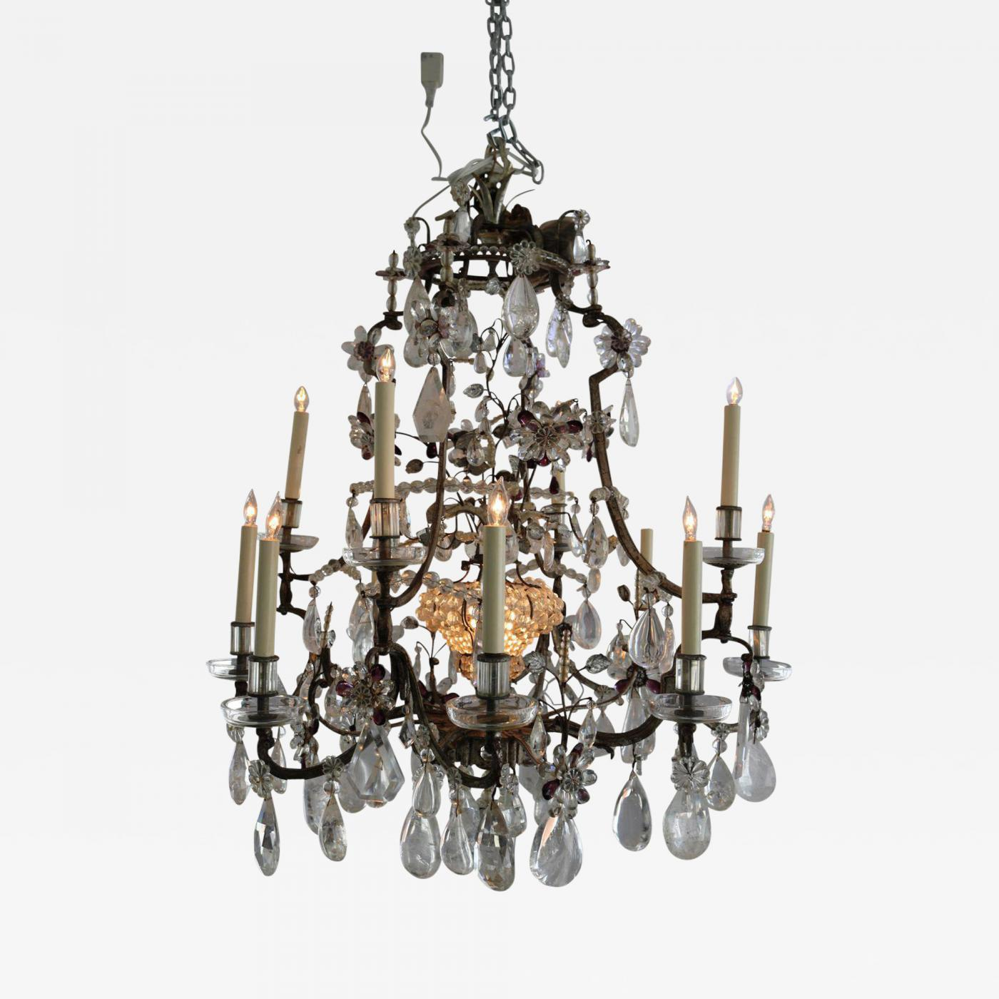 Maison bagus maison bagues 12 light rock crystal amethyst listings furniture lighting chandeliers and pendants mozeypictures Gallery