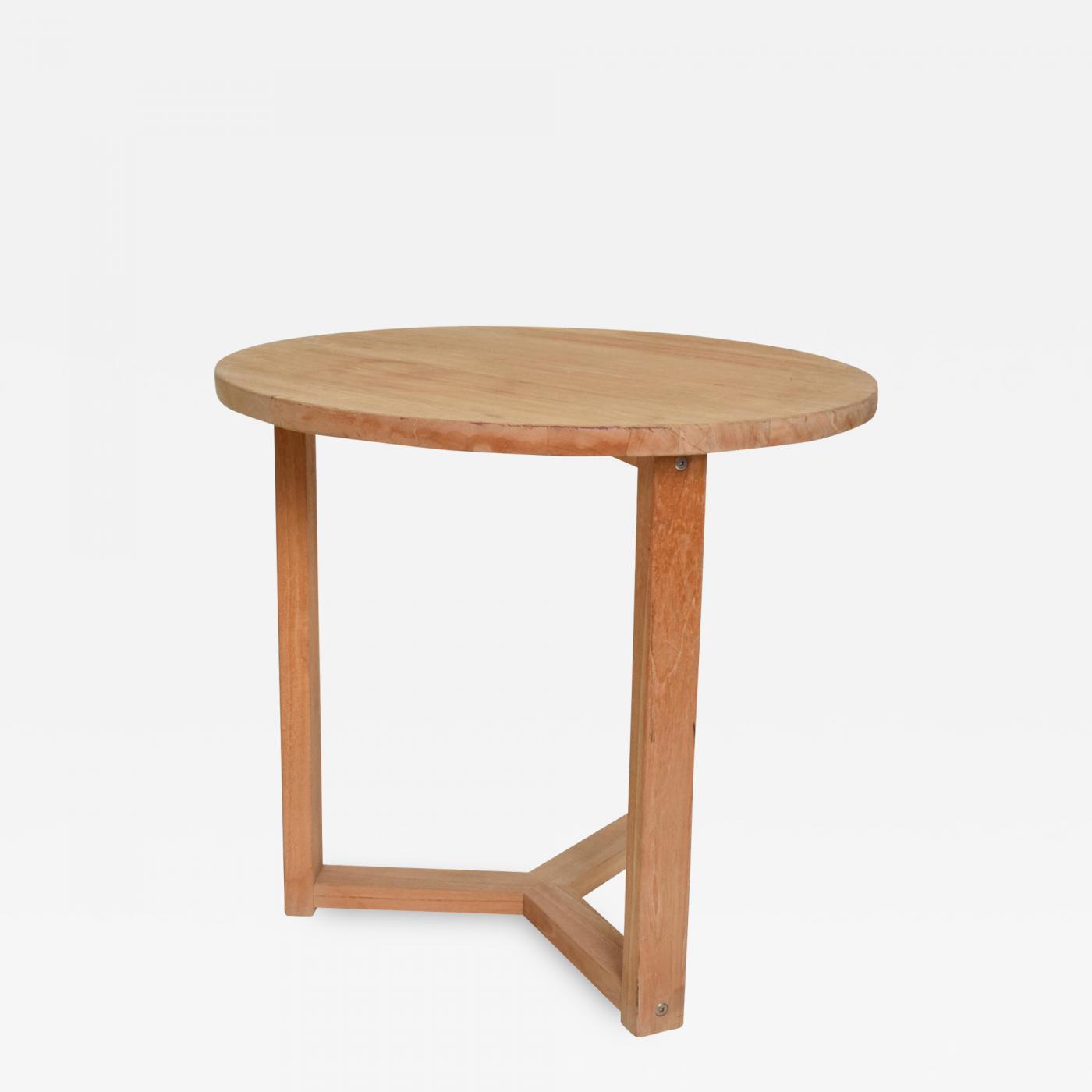 Side Table Teak.Mcguire Furniture Mid Century Modern Teak Round Side Table After Mcguire San Francisco