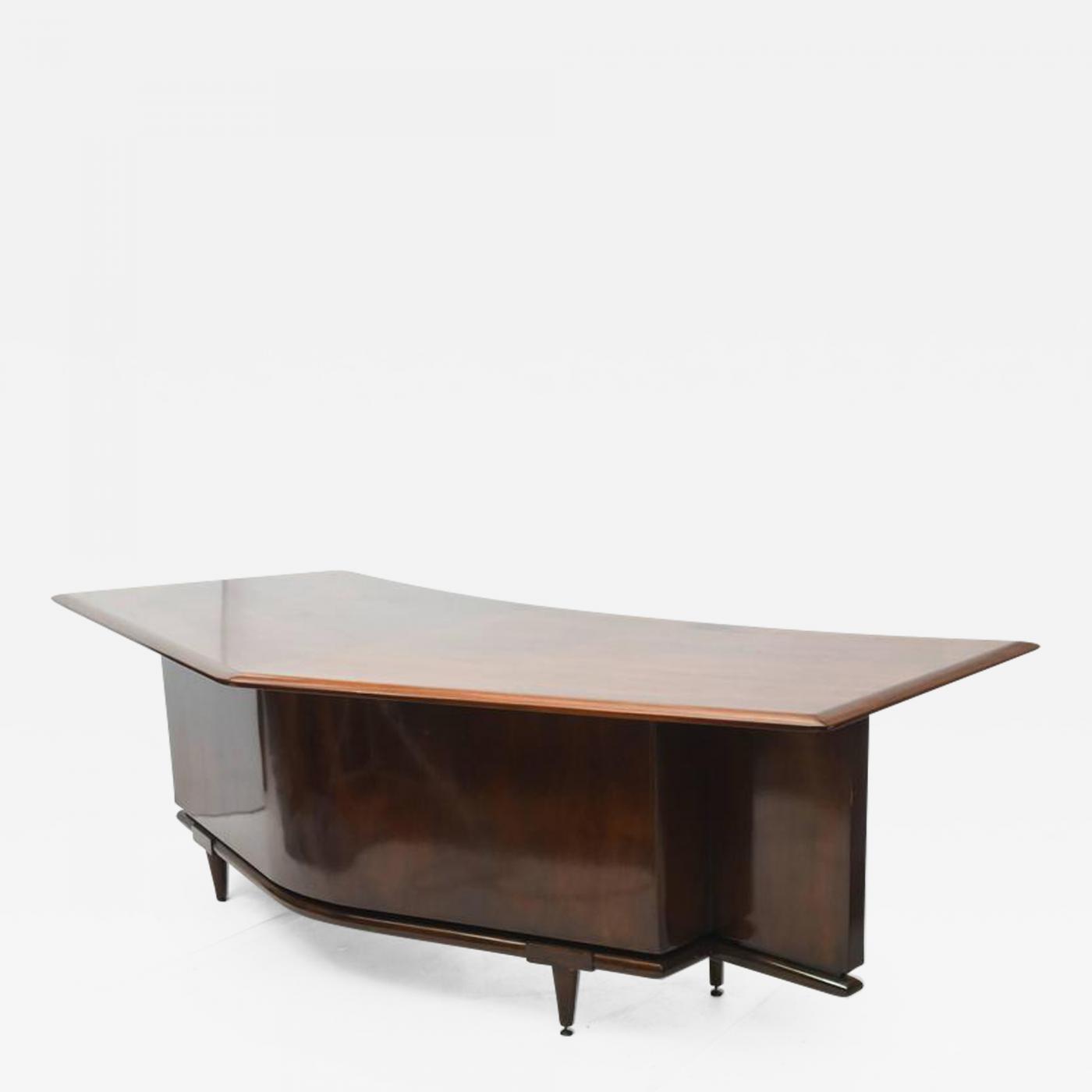 Image of: Monteverdi Young Fine American Modern Dark Walnut Executive Desk Custom Made By Monteverdi Young