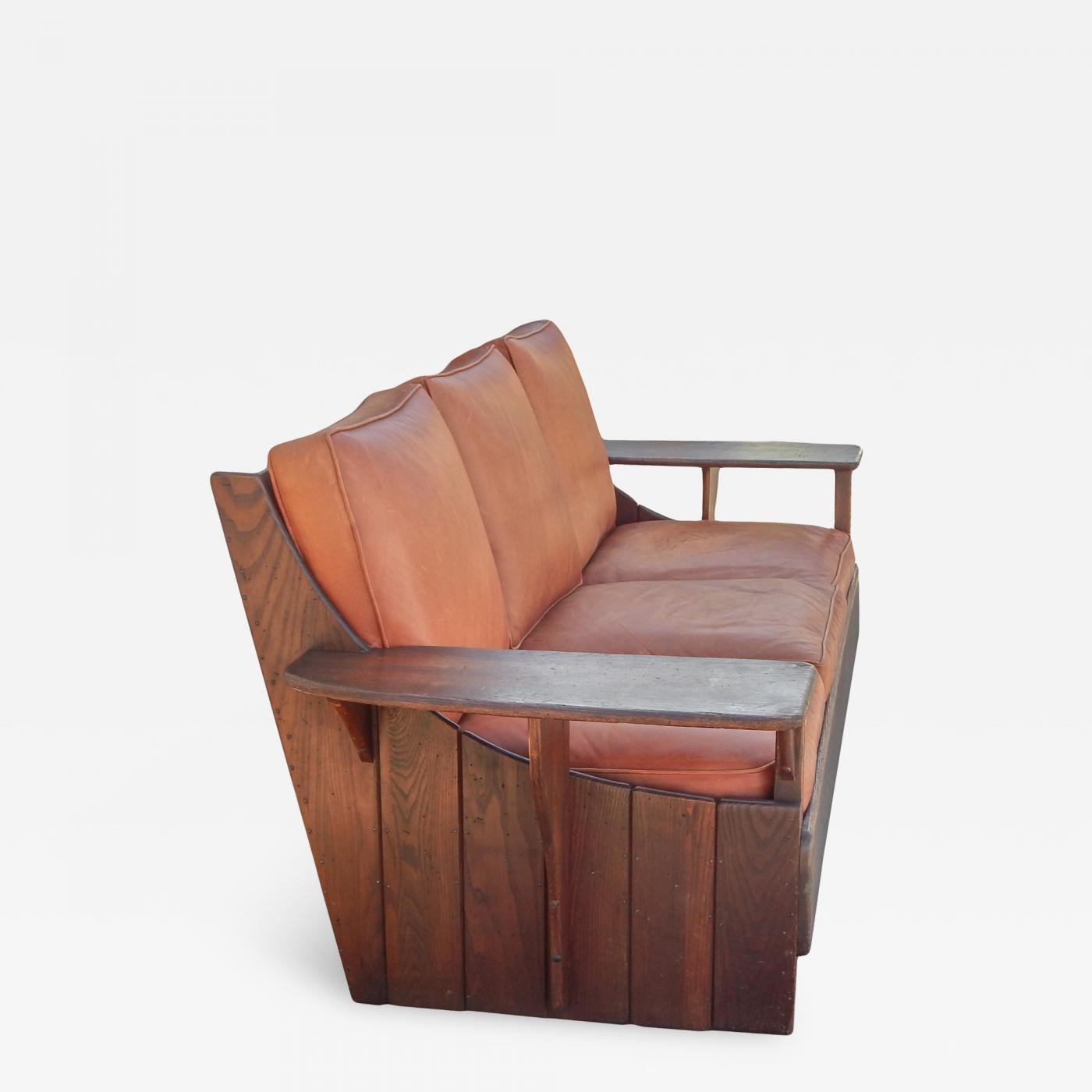 Terrific Old Hickory Furniture Co Hickory 1930S Paddle Arm Sofa W Andrewgaddart Wooden Chair Designs For Living Room Andrewgaddartcom
