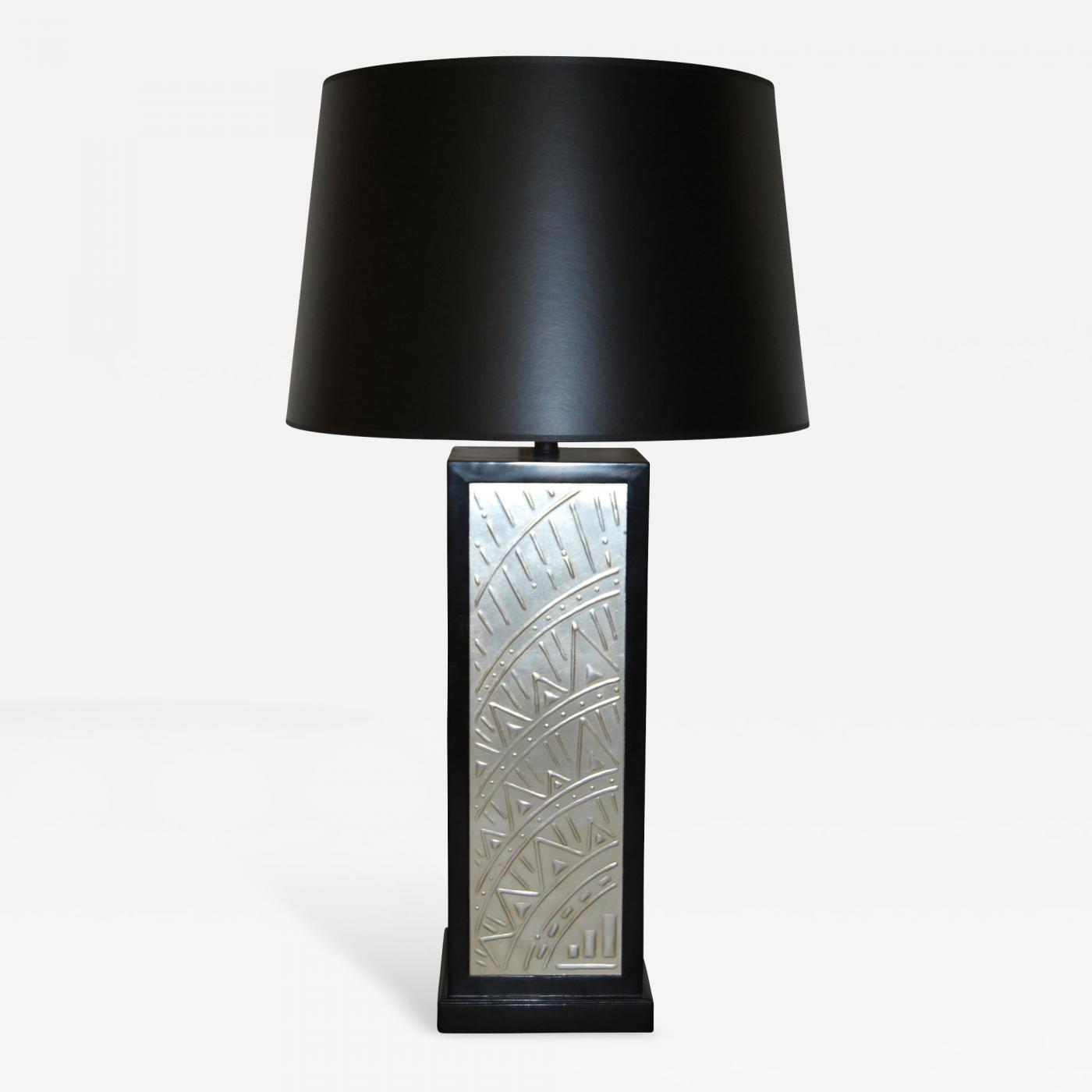 Osmundo Studio Art Deco Silverleafed Table Lamp