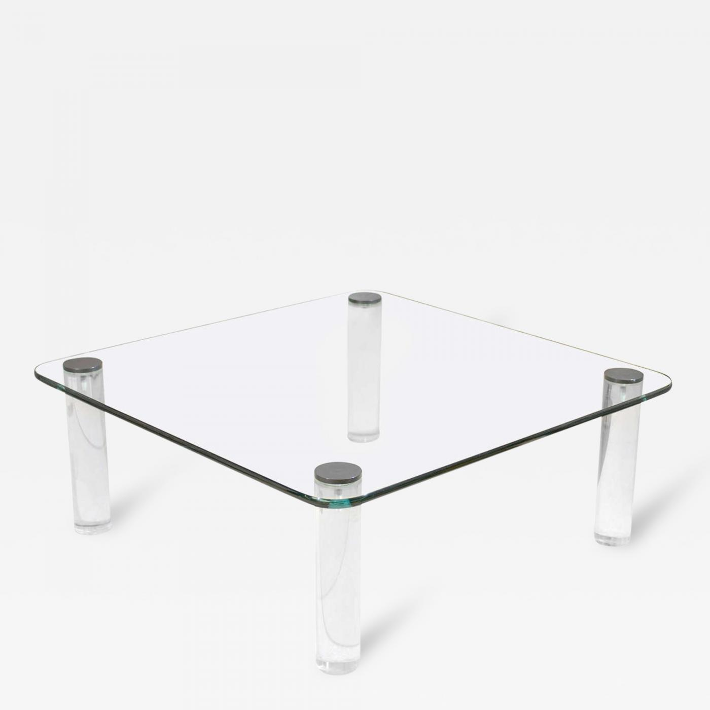 Pace collection glass lucite and bronze coffee table by pace listings furniture tables coffee tables geotapseo Image collections