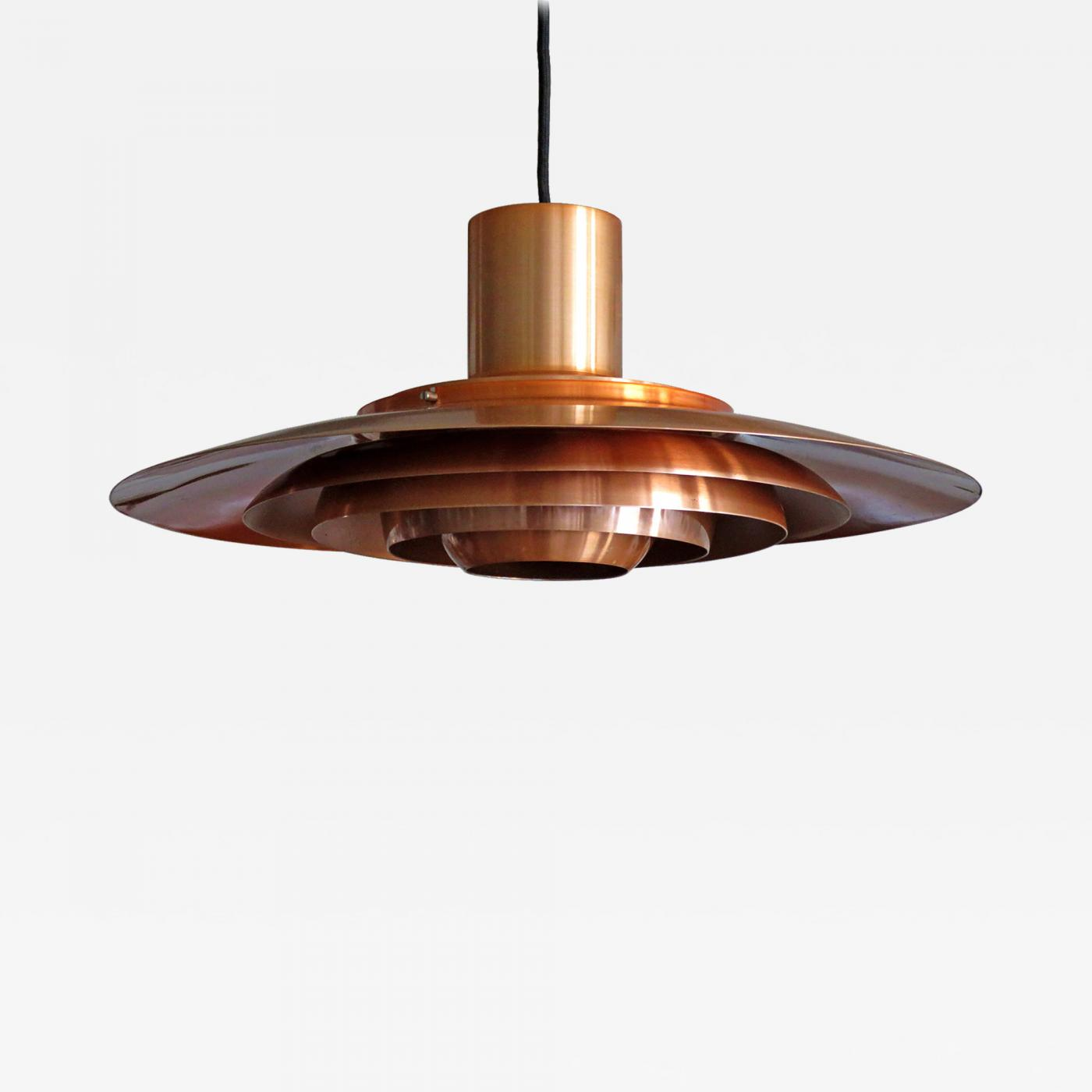 Copper Pendant Light By Preben Fabricius U0026 Jørgen Kastholm