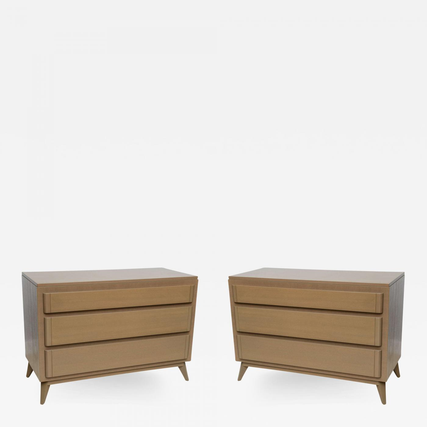 Incredible R Way Rway Furniture Company Pair Of American Modern Cerused Oak Commodes Download Free Architecture Designs Itiscsunscenecom