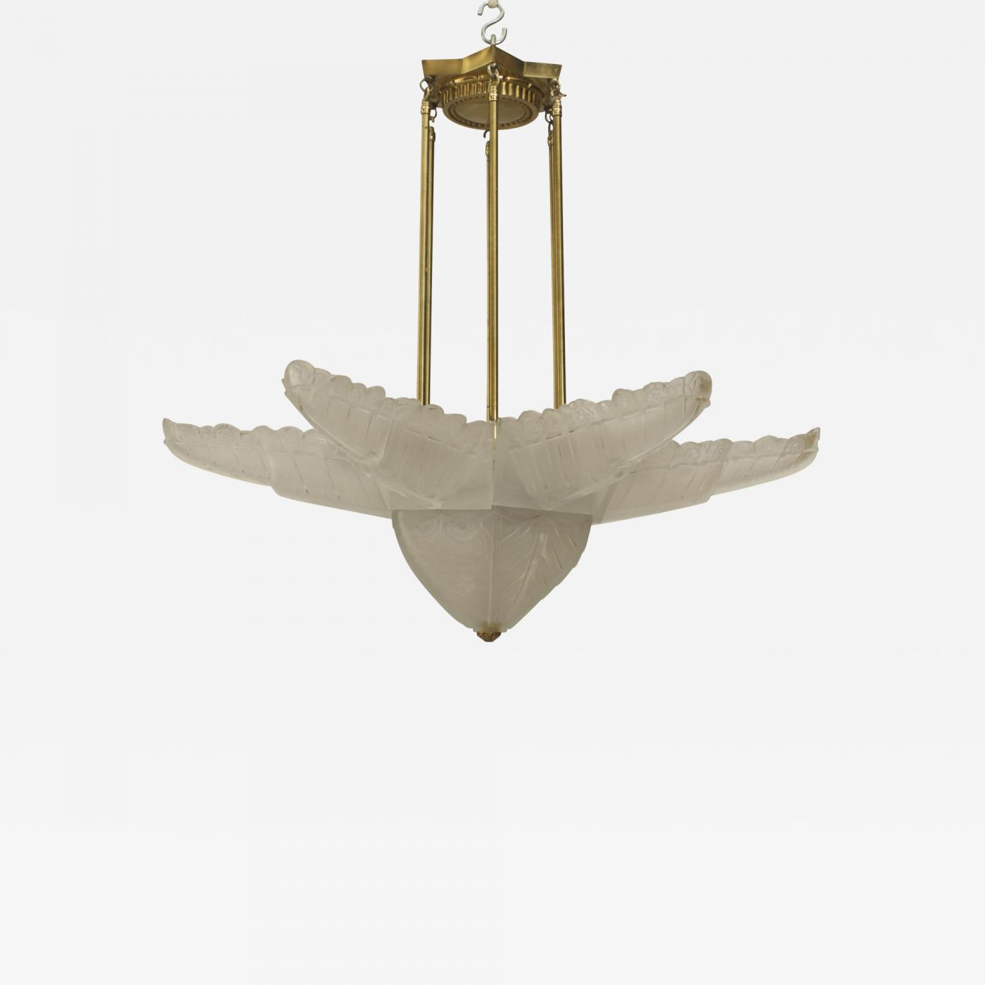 Sabino art glass french art deco molded frosted glass 6 sided star listings furniture lighting chandeliers and pendants aloadofball Image collections