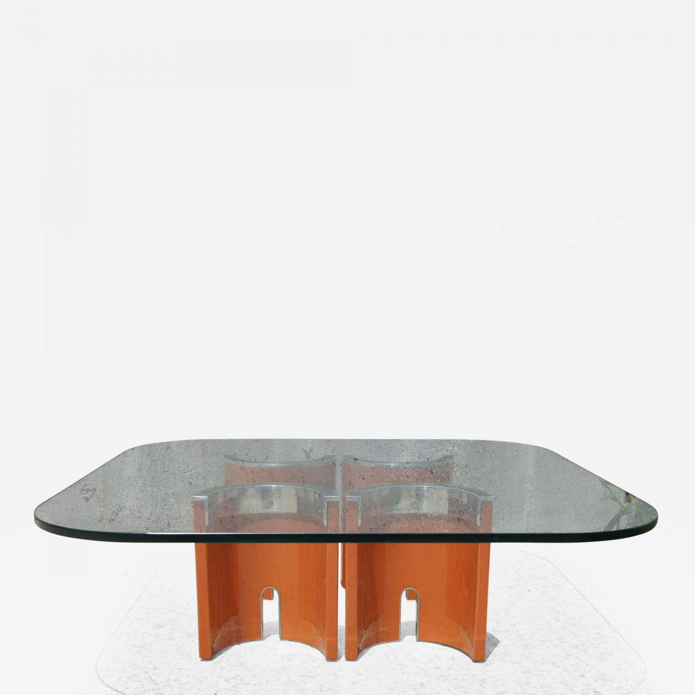 Listings / Furniture / Tables / Coffee Tables · Saporiti Glass Stainless  Steel ...