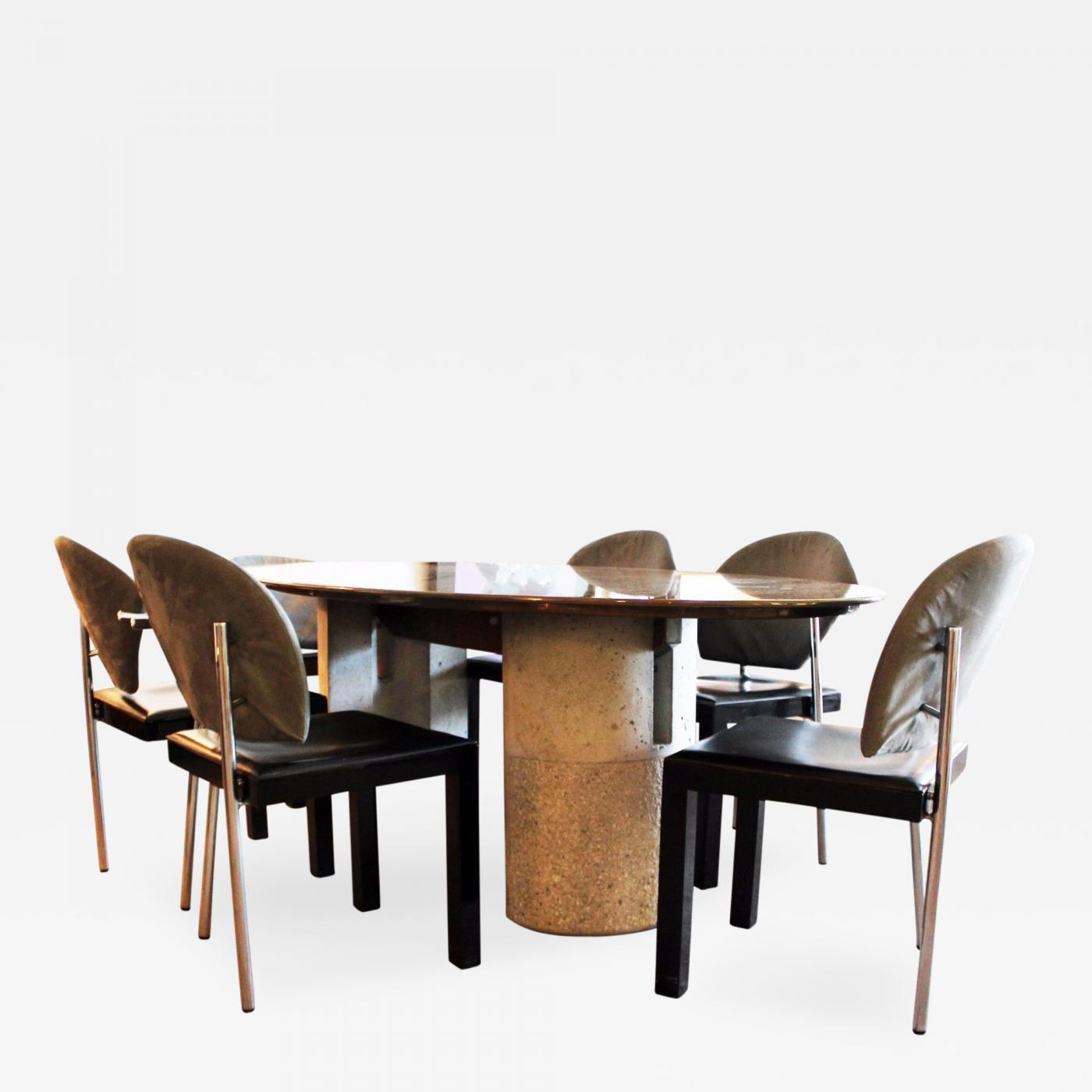Saporiti Mid Century Modern Saporiti Italia Italian Dining Table