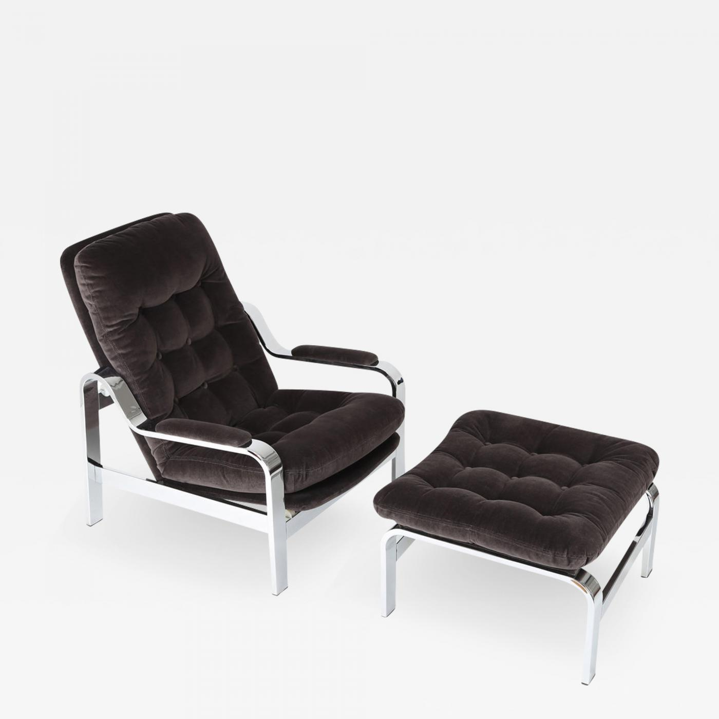 Pleasing Selig Furniture Co Selig Reclining Lounge Chair And Ottoman With Chrome Frames Download Free Architecture Designs Scobabritishbridgeorg