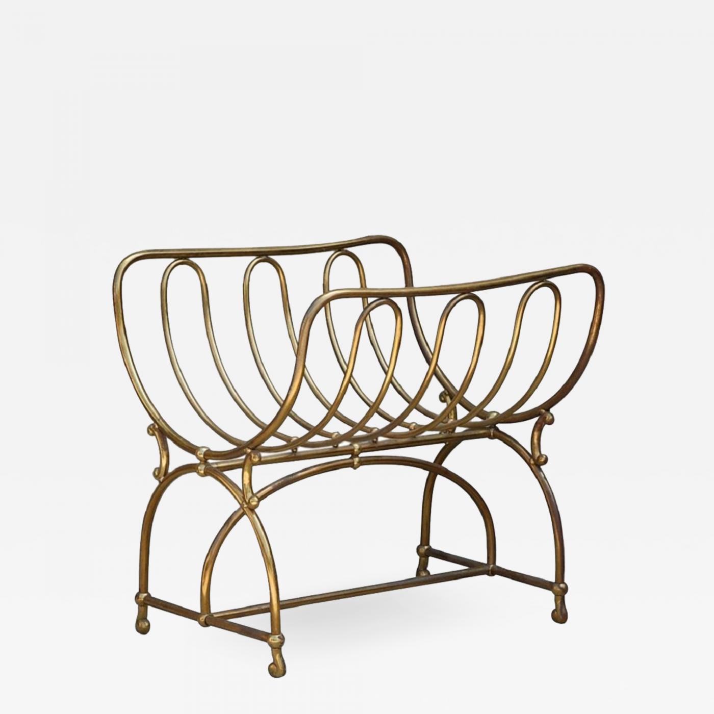 Siegel Paris Unique Solid Brass Fireplace Wood Rack By Siegel