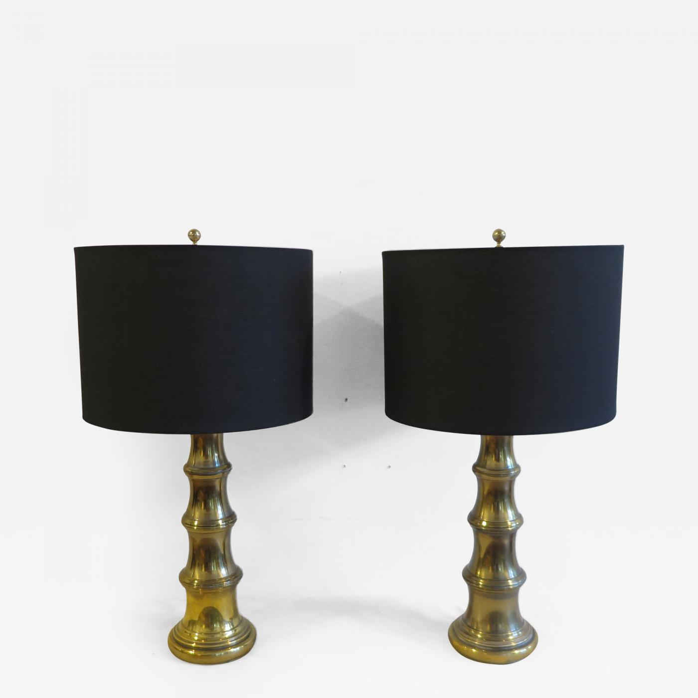 lamps pair a federal w style lamp vintage pin stiffel custom brass shades
