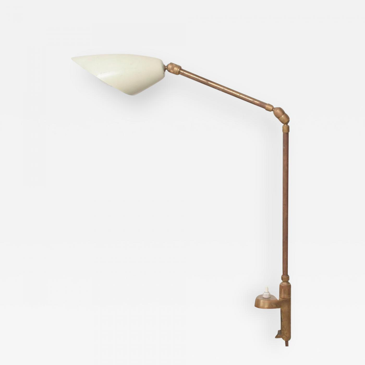 Image of: Stilnovo Midcentury Modern Stilnovo Clamp Table Lamp In Brass 1950s