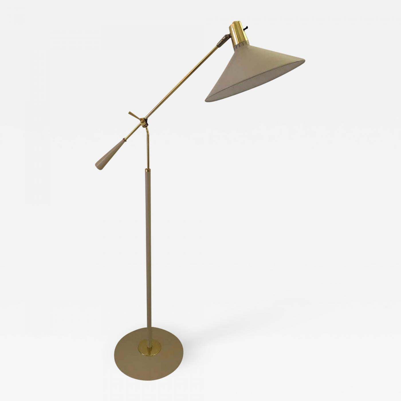 Stilnovo Stilnovo Midcentury Adjustable Height Swing Arm Standing Lamp Reading Lamps