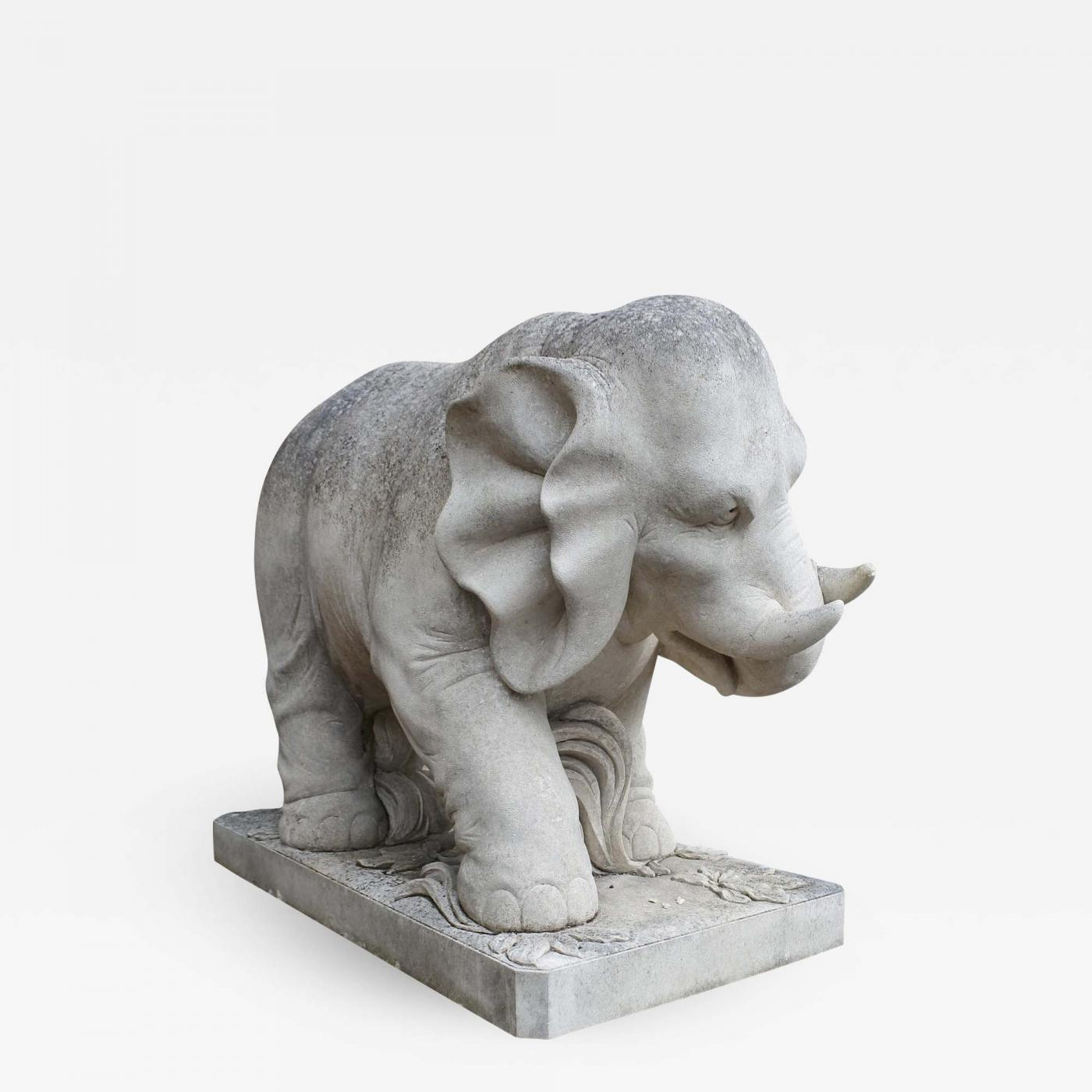 Listings / Decorative Arts / Garden U0026 Architectural / Statues · Talisman  Pair Of Stone Elephants ...