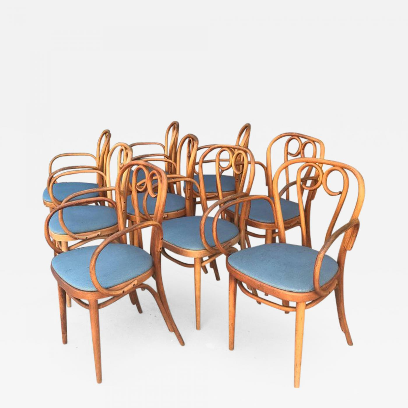 Listings / Furniture / Seating / Armchairs · Thonet Nine 9 Thonet Bentwood  Dining Chairs