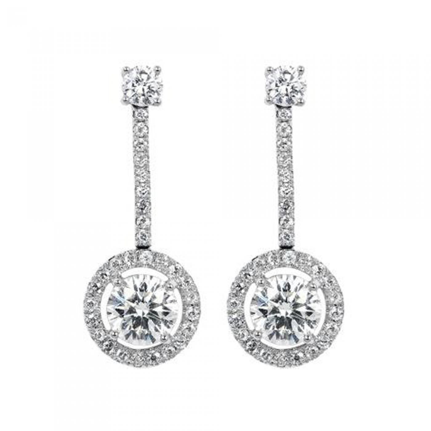 Tiffany & Co 1 85ct Tiffany & Co Diamond Drop Estate Earrings