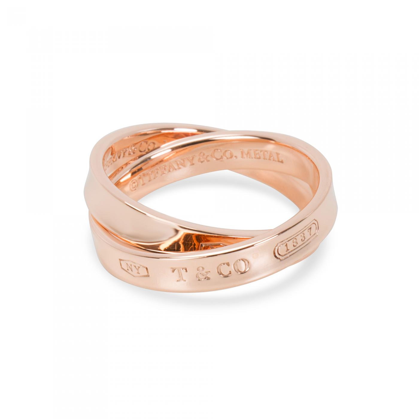 Tiffany & Co. - Tiffany & Co. 1837 Rubedo Interlocking Circles Ring in 8K Rose Gold