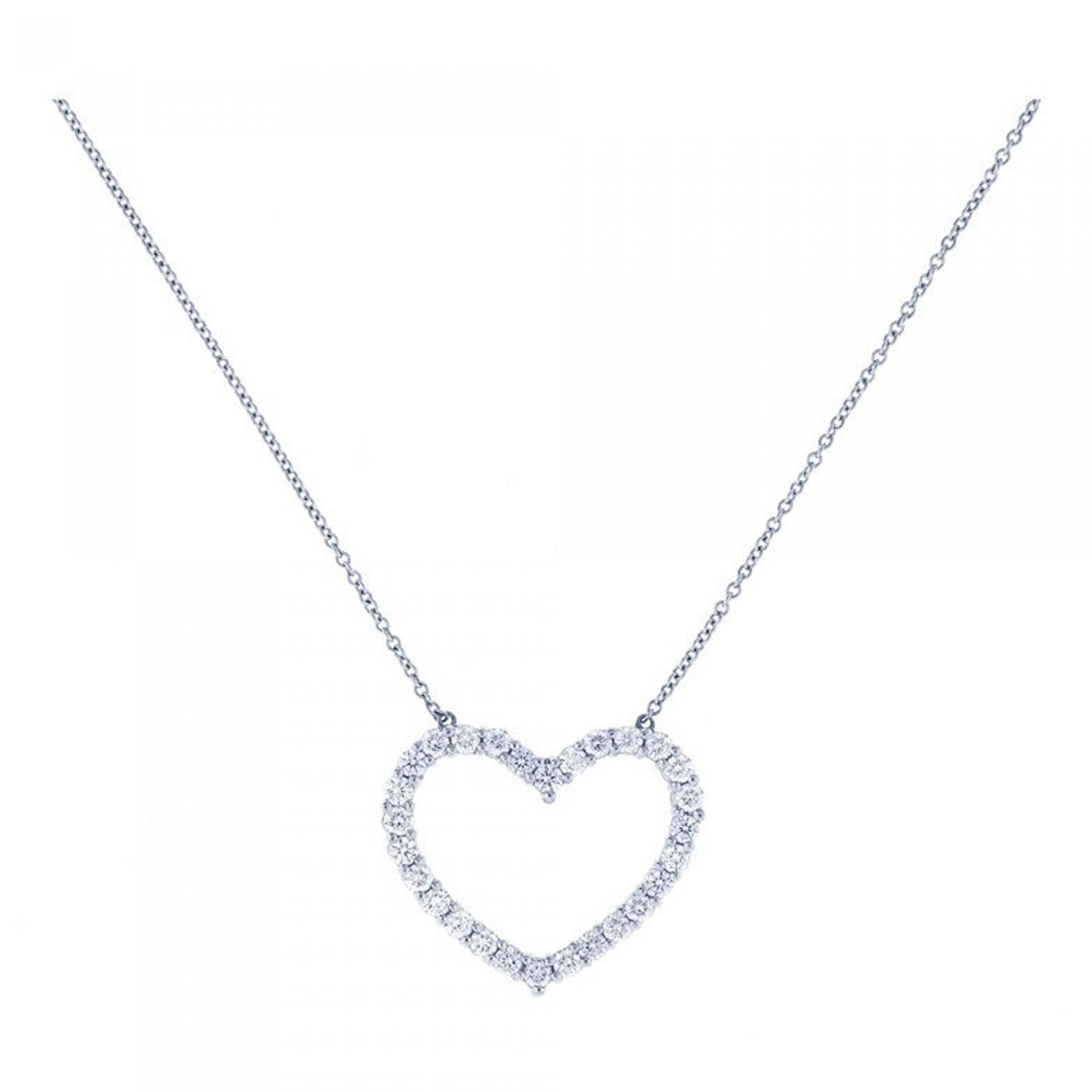 Tiffany And Co Tiffany Co Diamond Heart Pendant